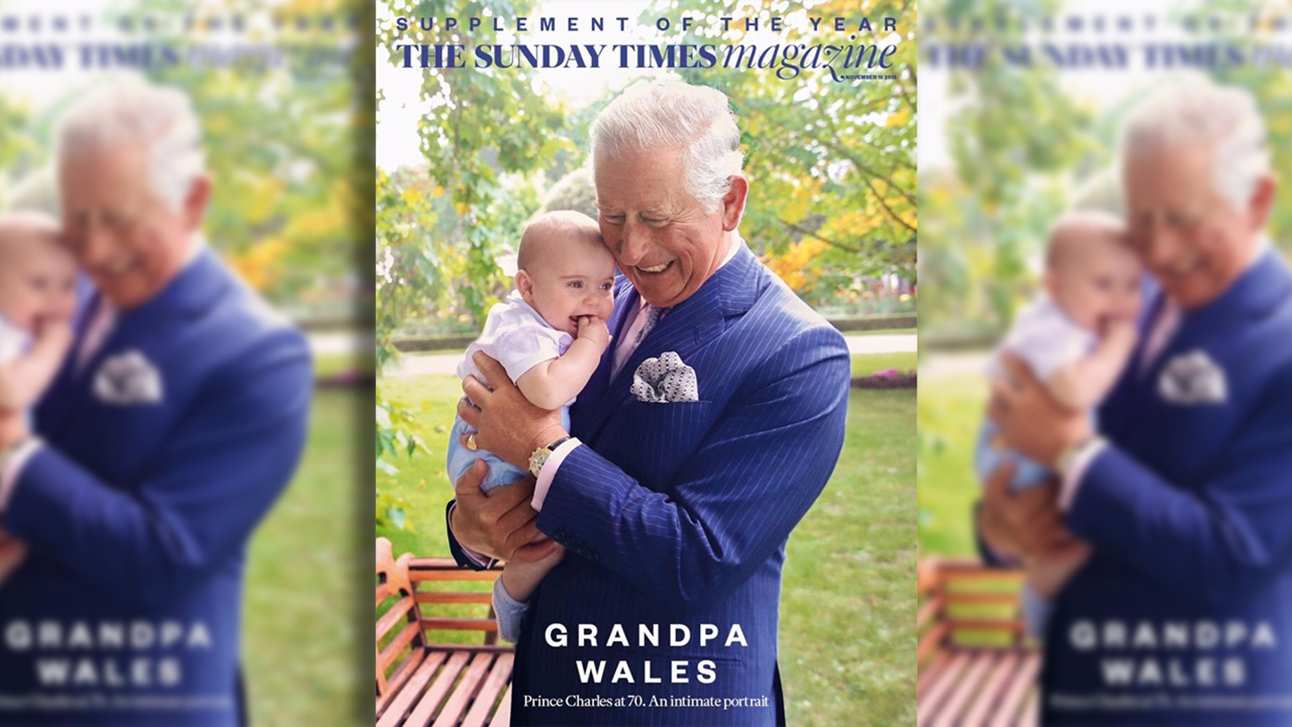 Prince Charles is seen as a hands-on grandfather in adorable new photos with Prince Louis.