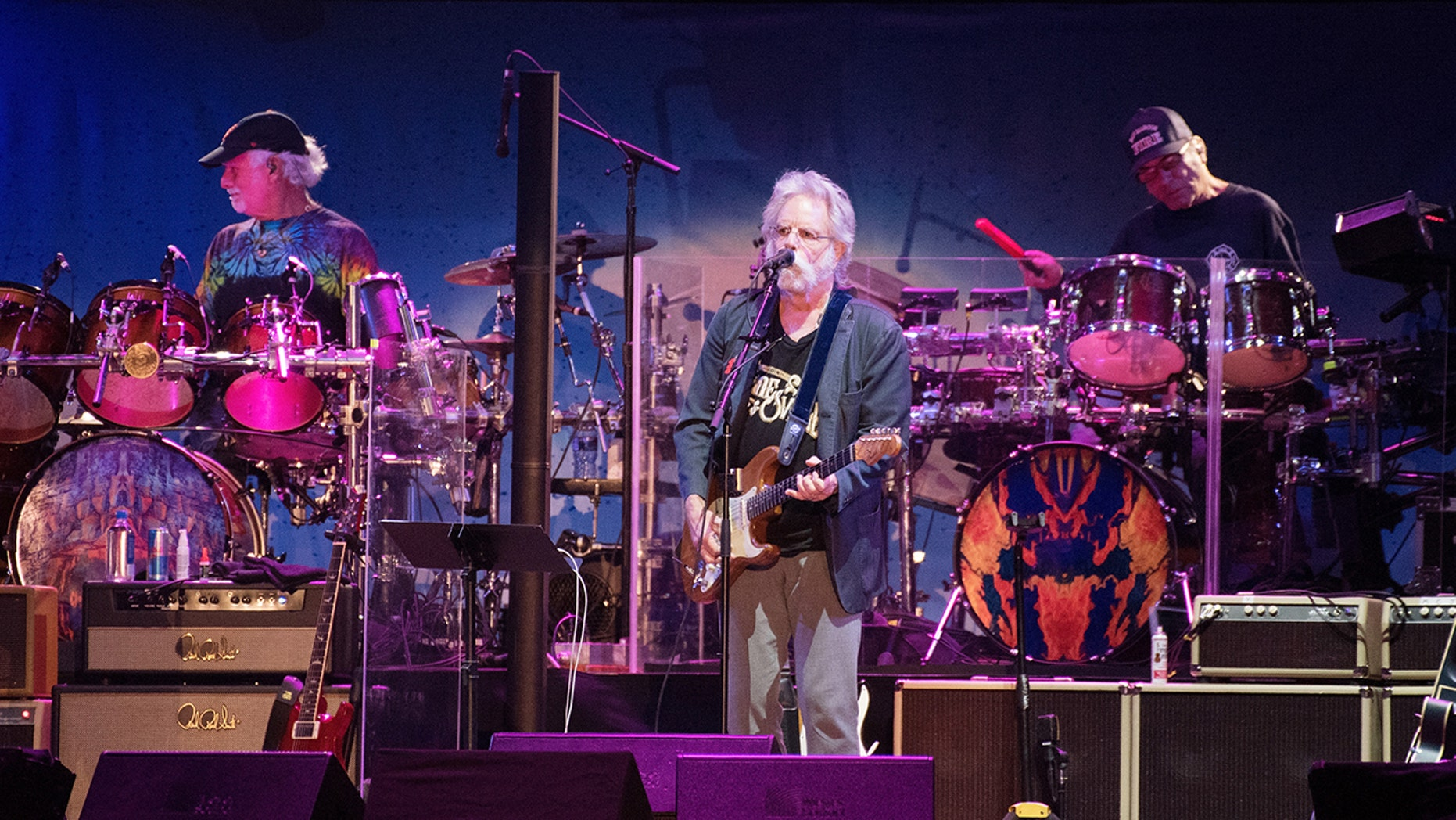 SAN FRANCISCO, CA - NOVEMBER 09: Bill Kreutzmann, Bob Weir and Mickey Hart of Dead and Company perform during the Band Together Bay Area Benefit Concert at AT