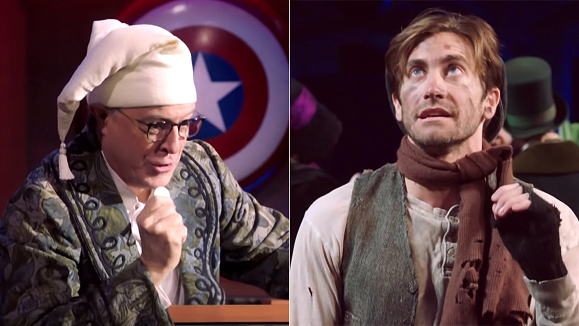 """""""The Late Show"""" host Stephen Colbert did an Election Day skit starring Jake Gyllenhaal."""