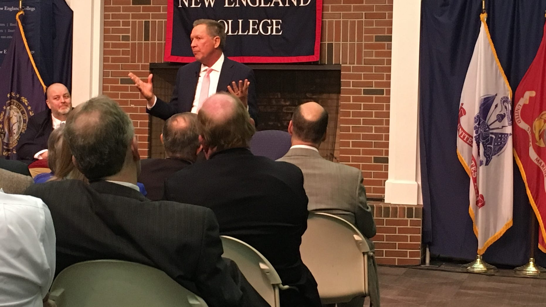 Ohio Gov. John Kasich, pictured in April, is back in New Hampshire. (Paul Steinhauser)