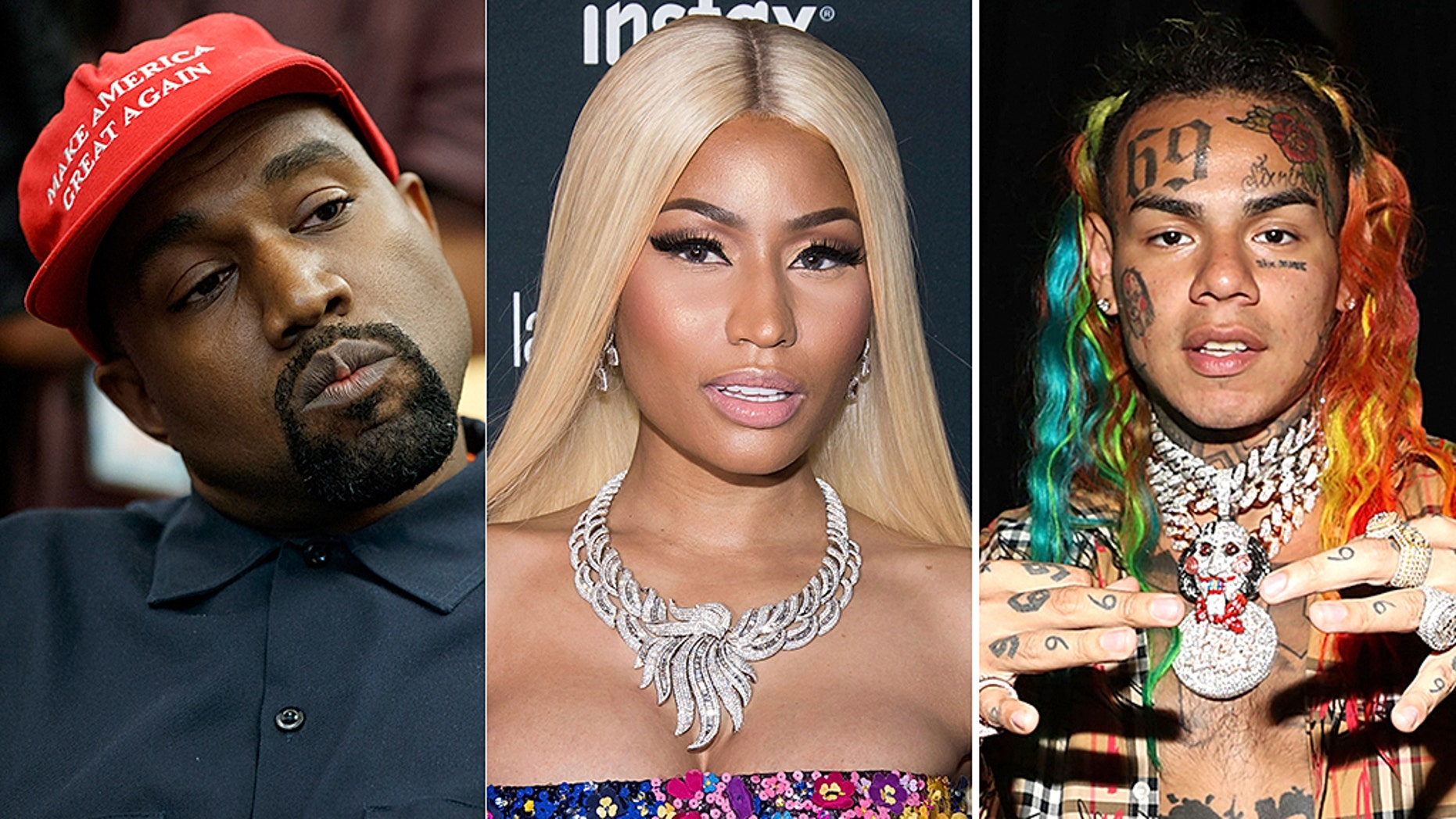 Tekashi 6ix9ine, Kanye West & Nicki Minaj Targeted In Dramatic