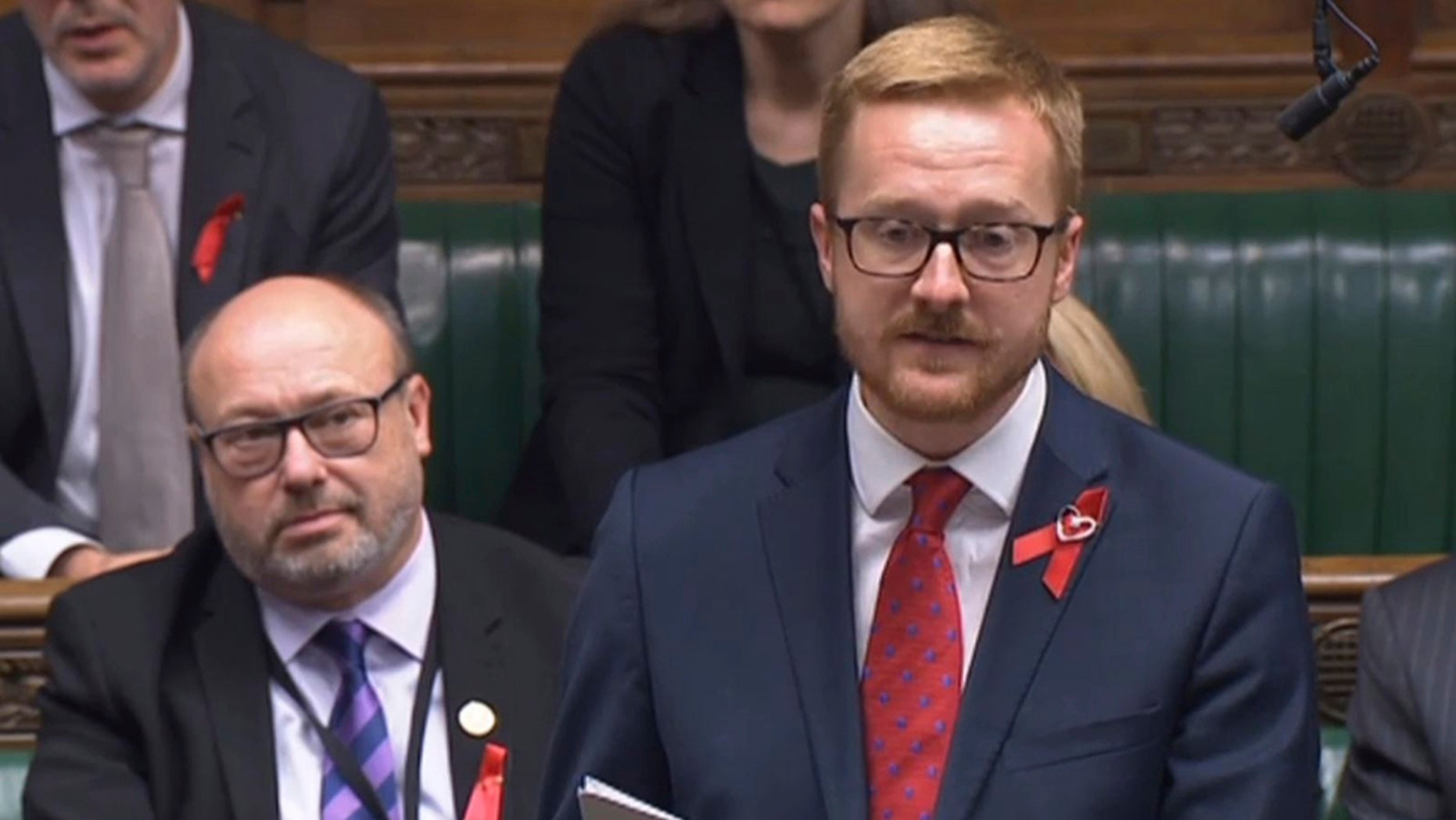 Lloyd Russell-Moyle, Labor MP for Brighton Kemptown, speaks in the House of Commons and talks about his positive HIV status.