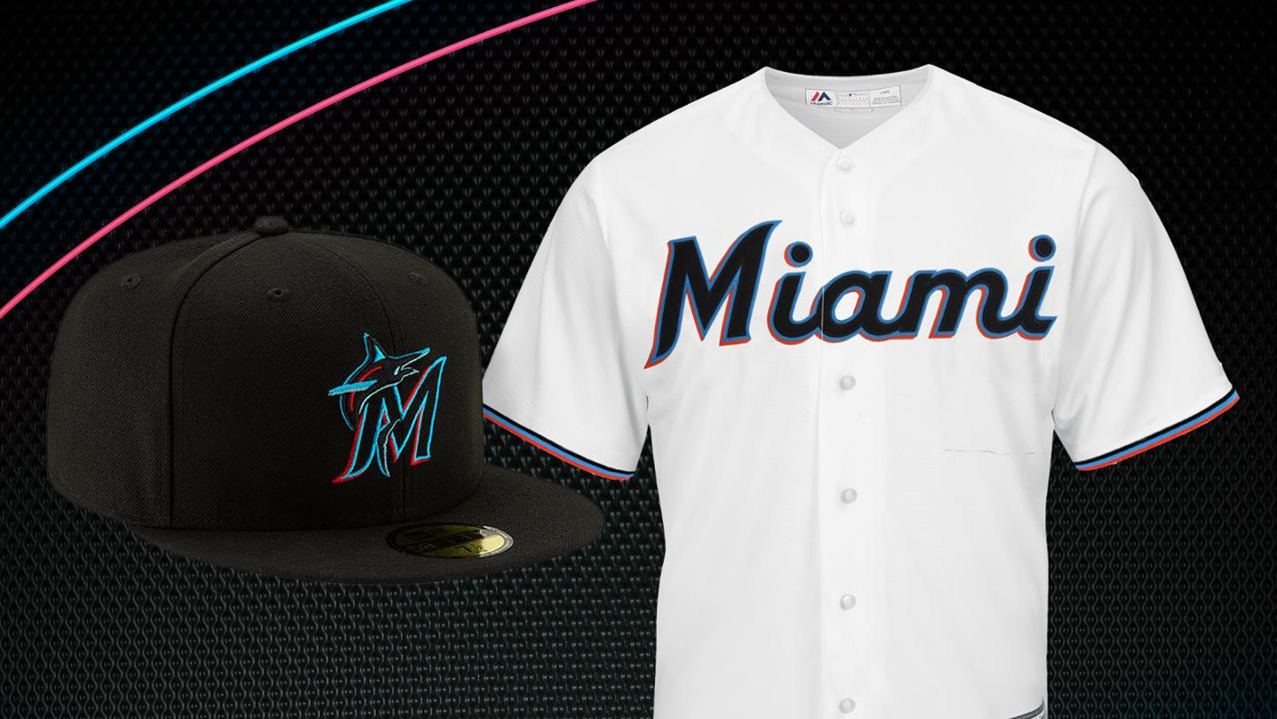 new concept a47d3 288f2 Miami Marlins unveil 'vibrant' new logo, colors and uniforms ...
