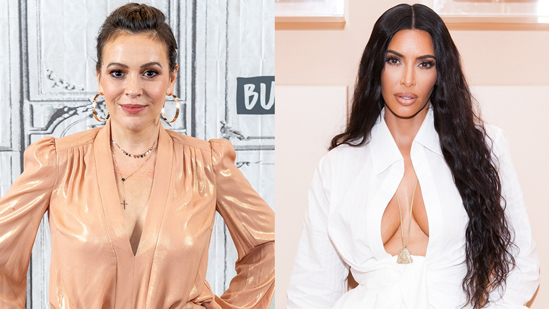 Alisa Milano, Kim Kardashian and other stars were forced to evacuate their home in southern California due to the Volcian fire.