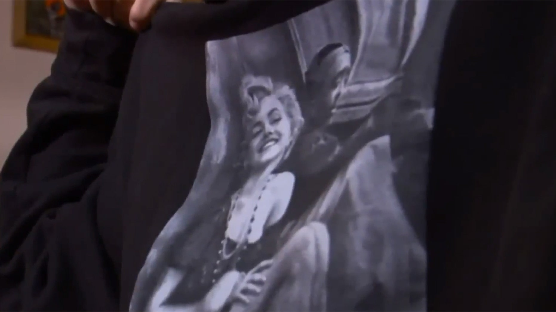 A sweatshirt showing Marilyn Monroe's shoulders was considered a violation of this high school's dress code.