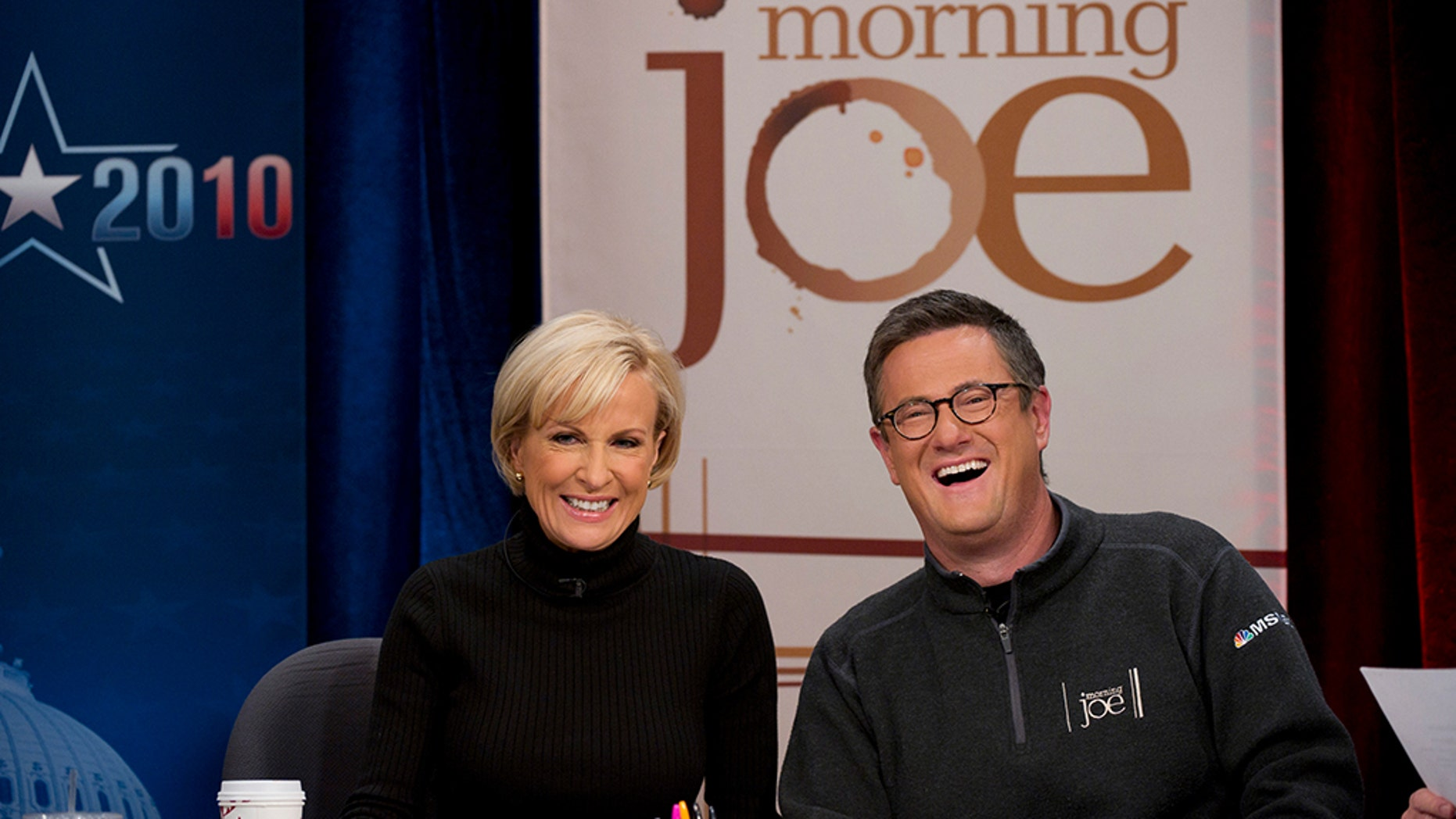 "Joe Scarborough and Mika Brzezinski, hosts of MSNBC's ""Morning Joe,"" tied the knot on Saturday."