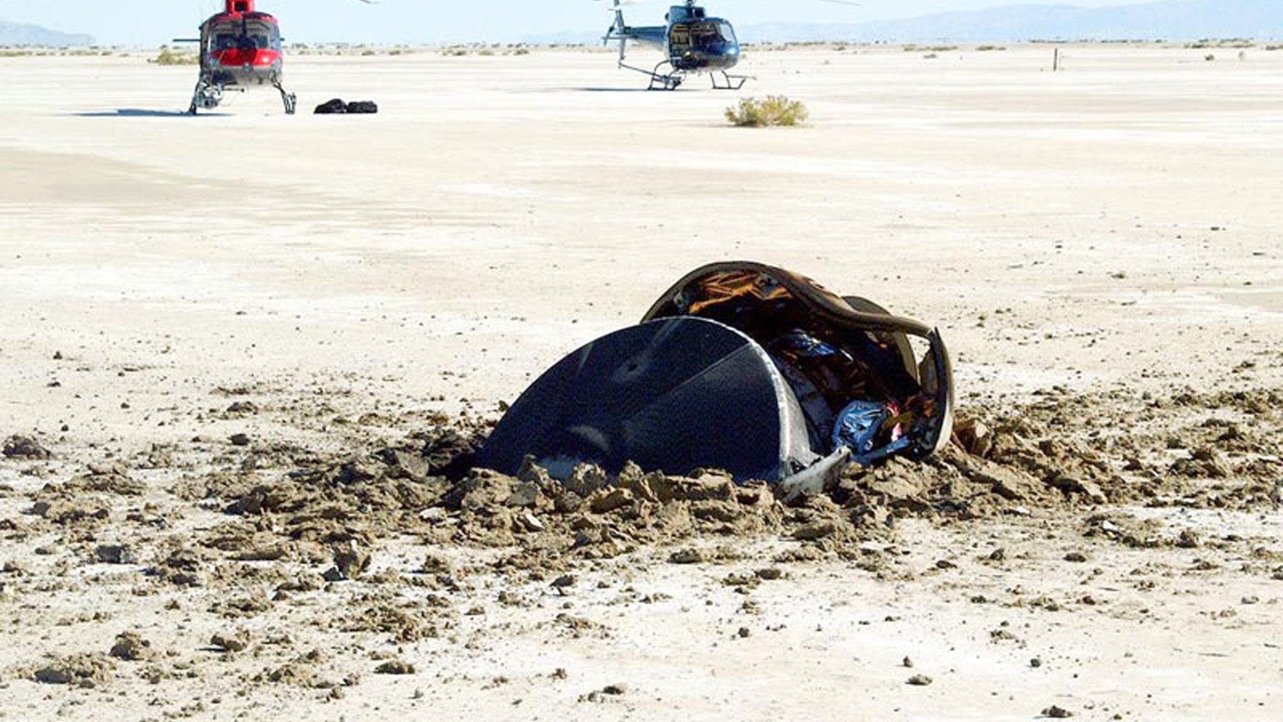 NASA posts image of crashed 'flying saucer from outer space'