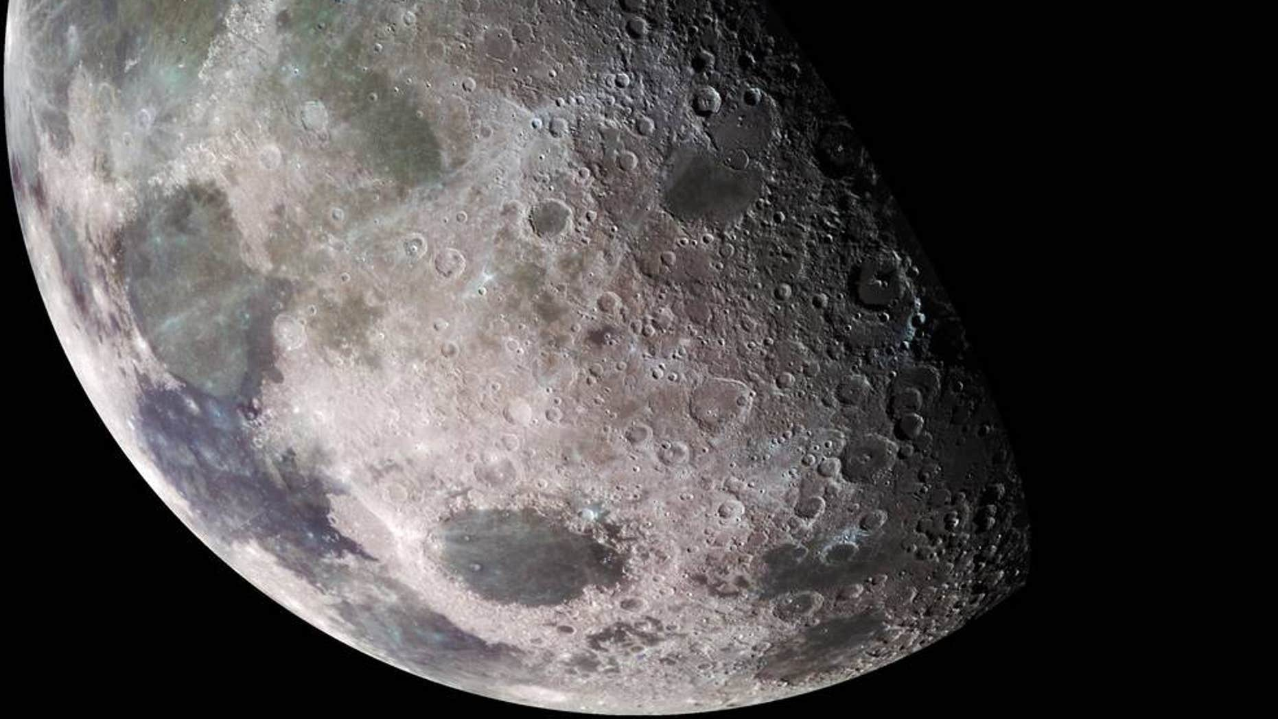File photo - the Moon photographed in shadow.