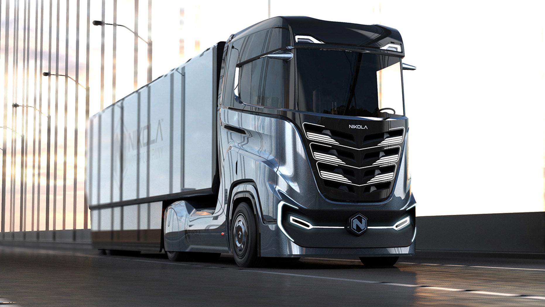 Nikola Motor Company unveils sleek, hydrogen-powered ...