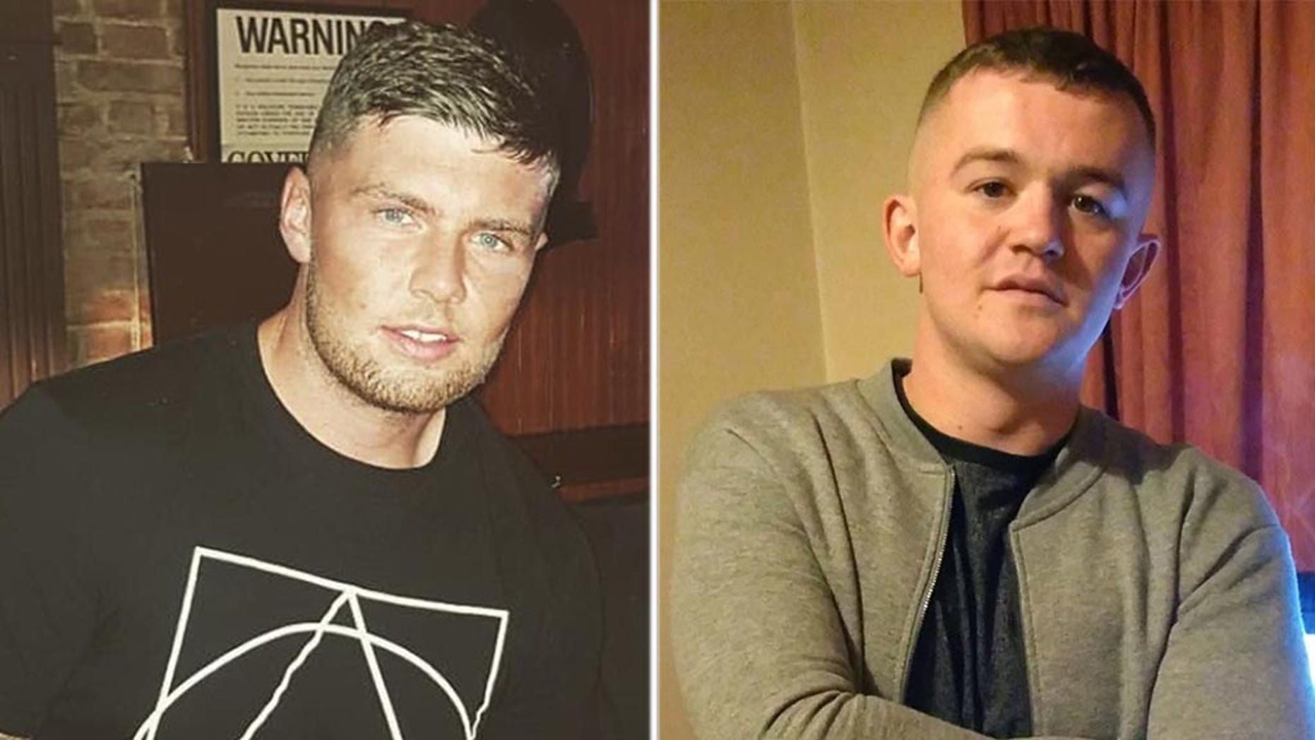 """Steven O'Brien [left] was arrested after he was accused of punching John """"Danny"""" McGee [right] in the head who later died."""