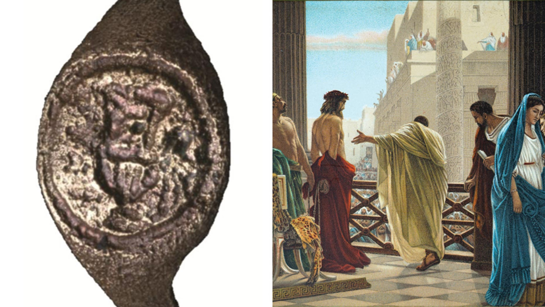 A ring discovered 50 years ago in ancient fortress is thought to belong to Pontius Pilate.