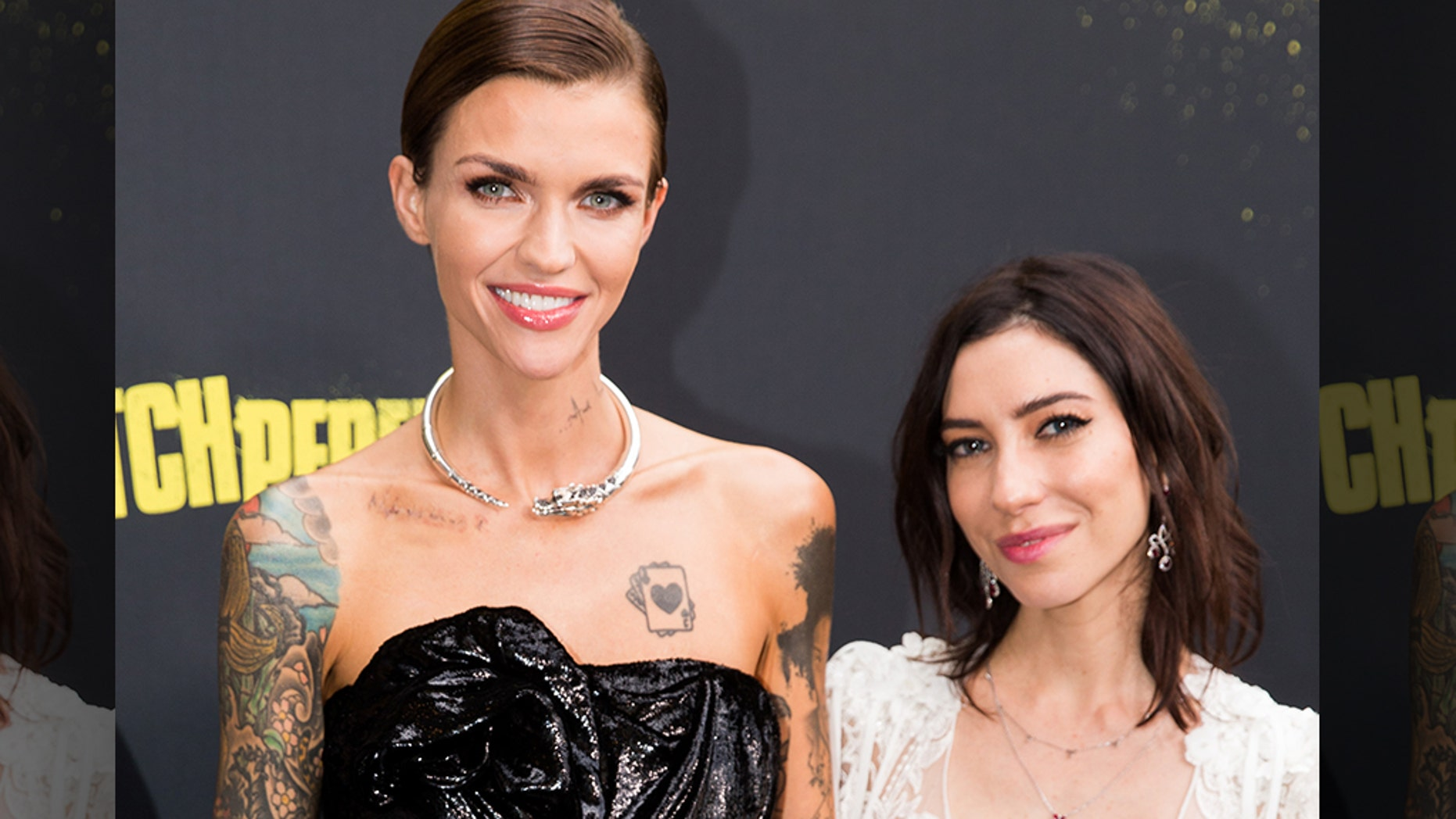 """Exes Ruby Rose and Jess Origliasso, right, are pictured here on November 29, 2017.Origliasso recently accused Rose of""""continued harassment."""""""