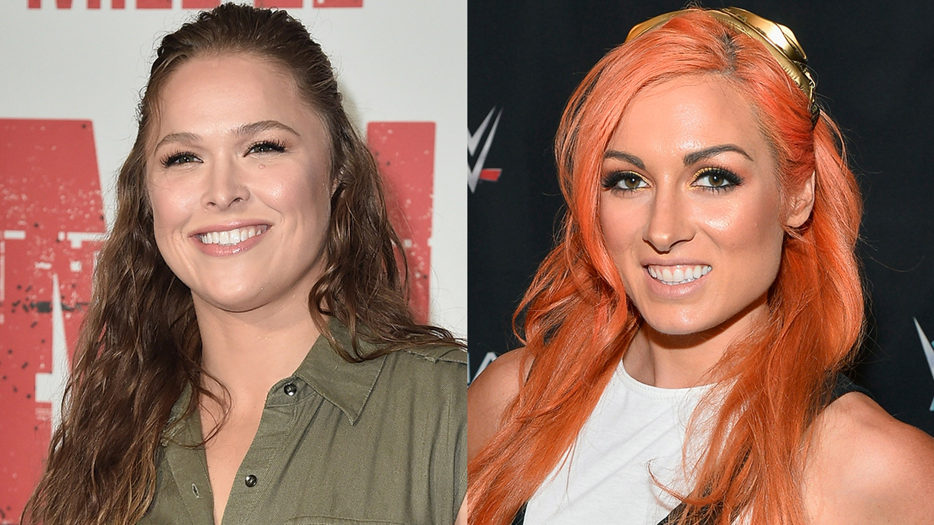 Ronda Rousey exchanged heated words with WWE rival Becky Lynch.
