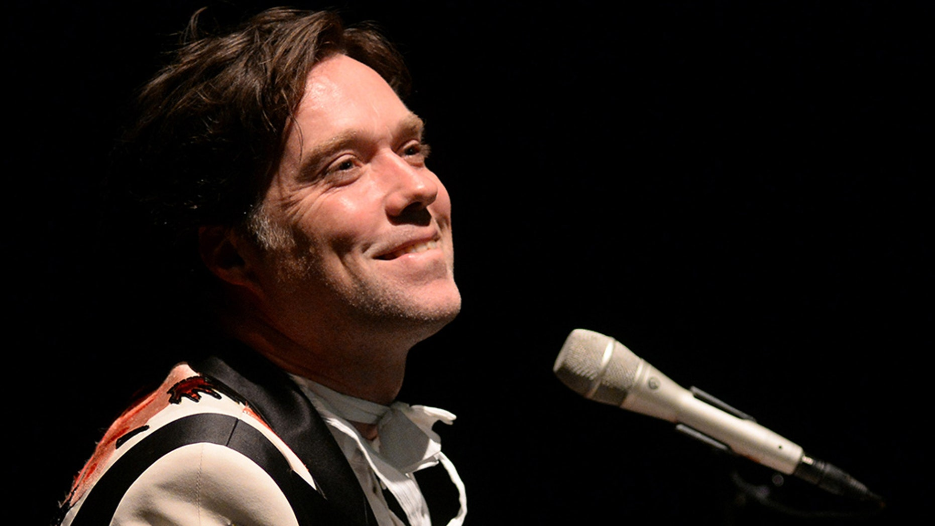 """Rufus Wainwright slams Trump in his new music video for """"Sword of Damocles,"""" released on Oct. 31, 2018."""