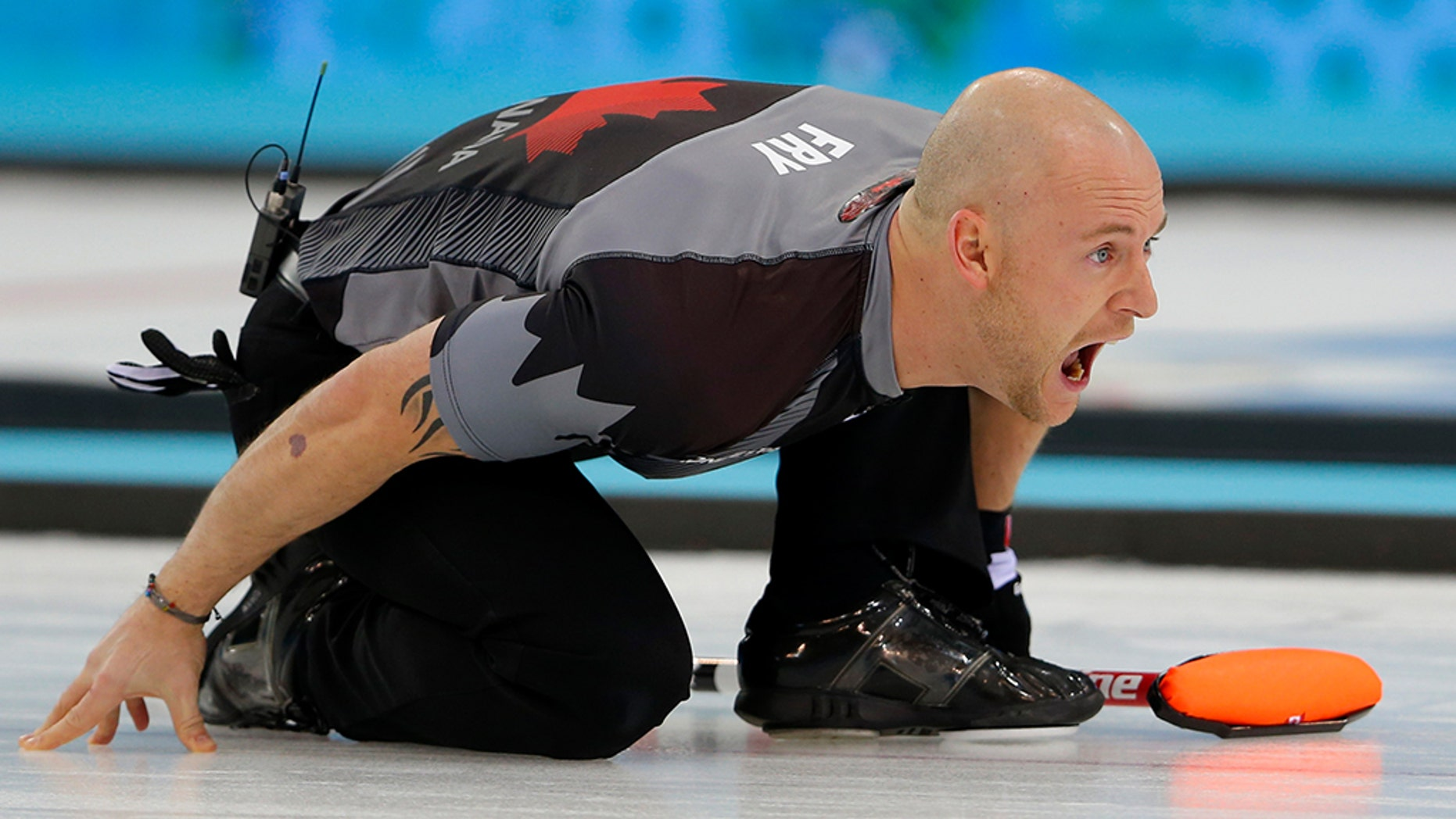 "Olympic gold medalist Ryan Fry and three other Canadian curling players were booted from a curling tournament on Sunday for allegedly being ""extremely drunk."""