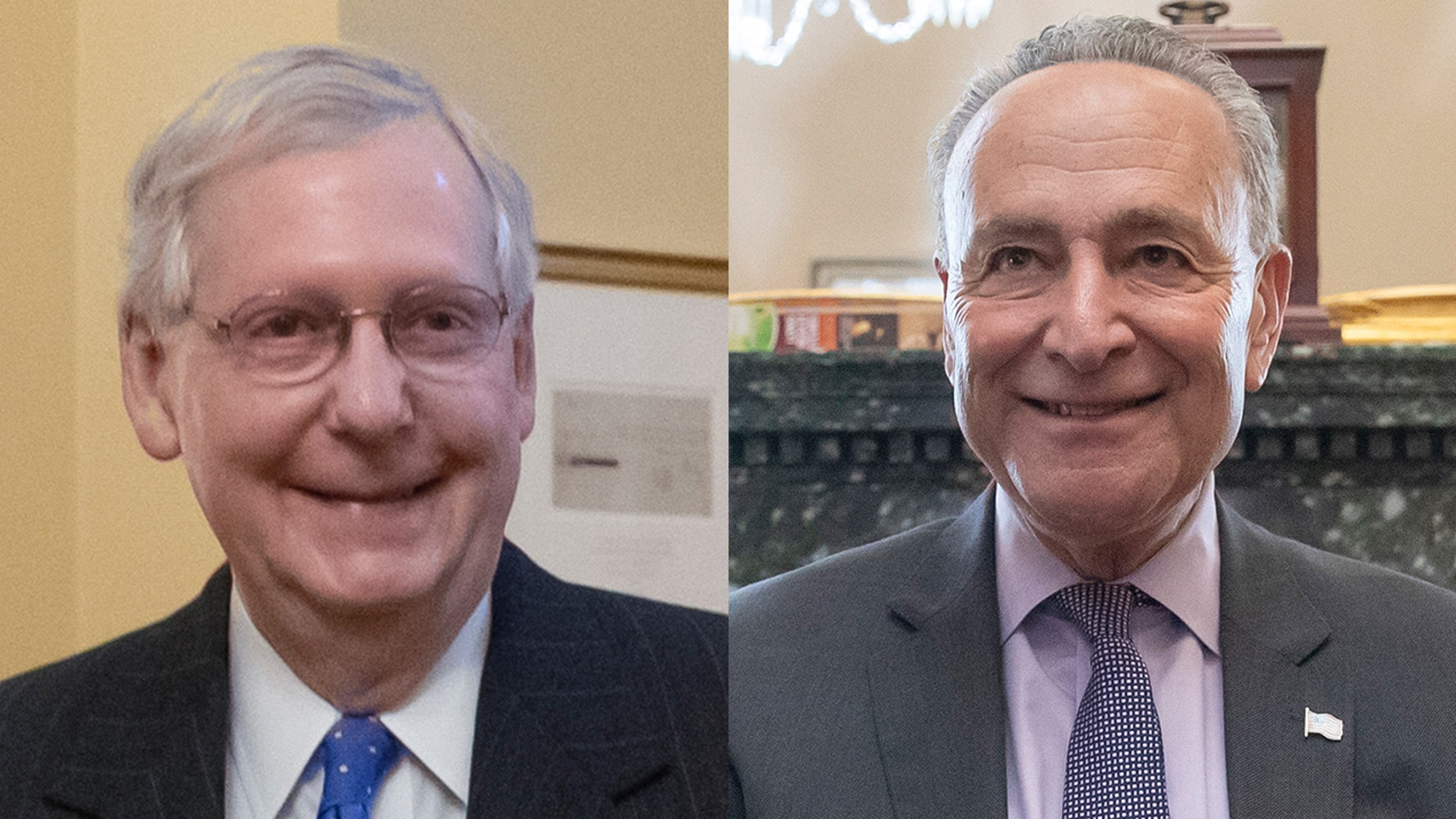 Kentucky Sen. Mitch McConnell on Wednesday was re-elected majority leader of the Senate Republican conference, as Democrats voted to keep New York Sen. Chuck Schumer as their leader. (AP)