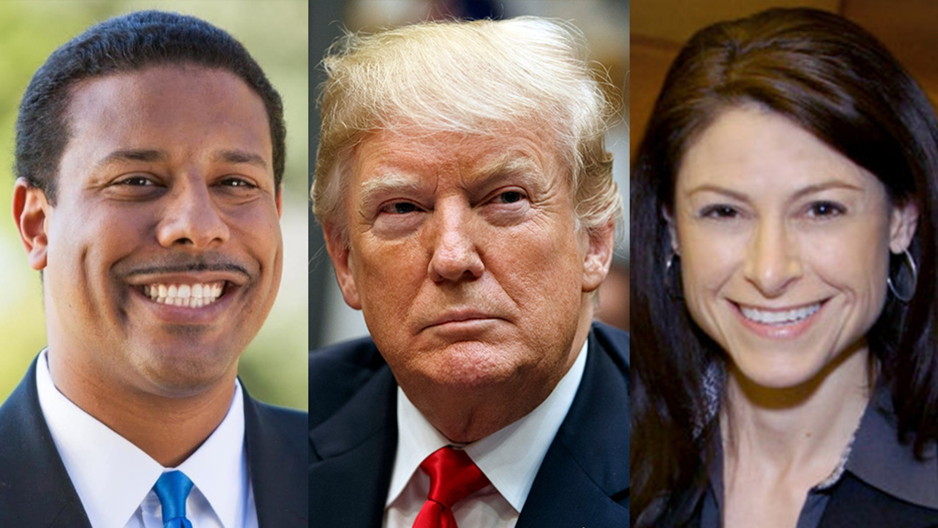 Florida AG candidate Sean Shaw, left, and Michigan AG candidate Dana Nessel, right, are among the Democratic candidates vying for the chance to engage in legal battle with President Trump.