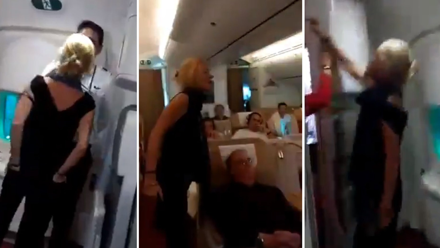 Simone O'Broin, 50, was arrested after a racist, drunken assault of Air India crew. The Northern Irish woman is a prominent BDS leader who threatened the Indian crew with a boycott.