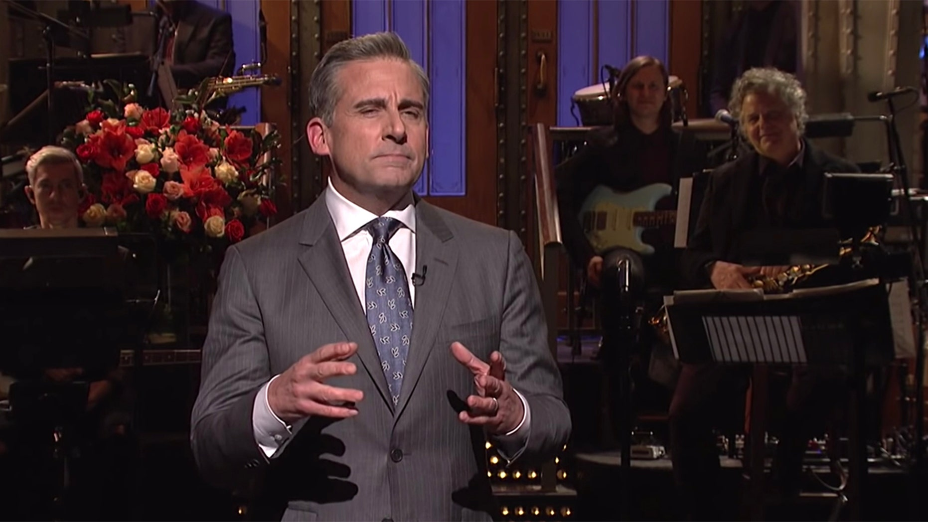 "Steve Carell addressed questions of a possible ""The Office"" reboot during his appearance on ""Saturday Night Live."""