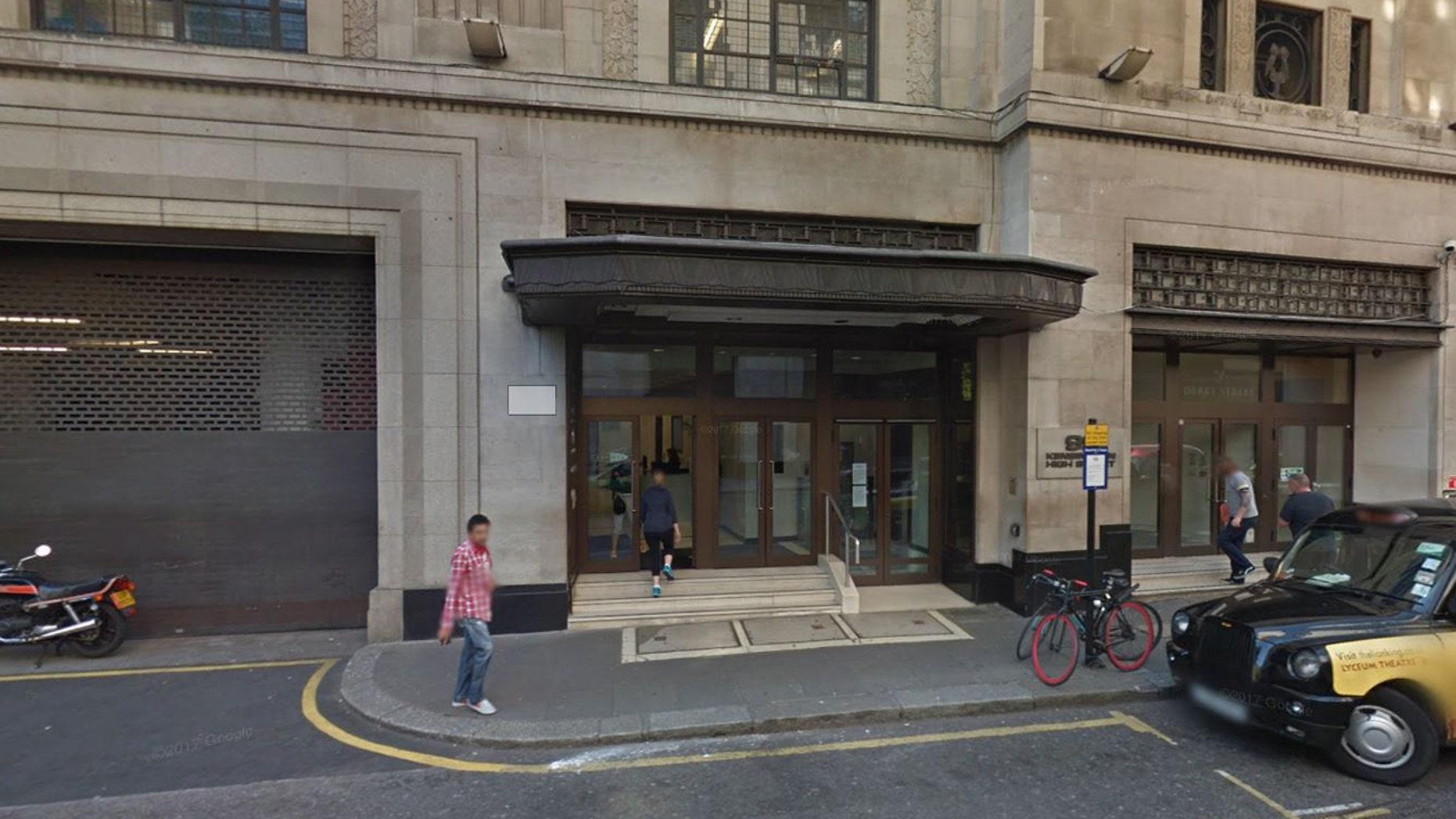 Outside Sony HQ in London.