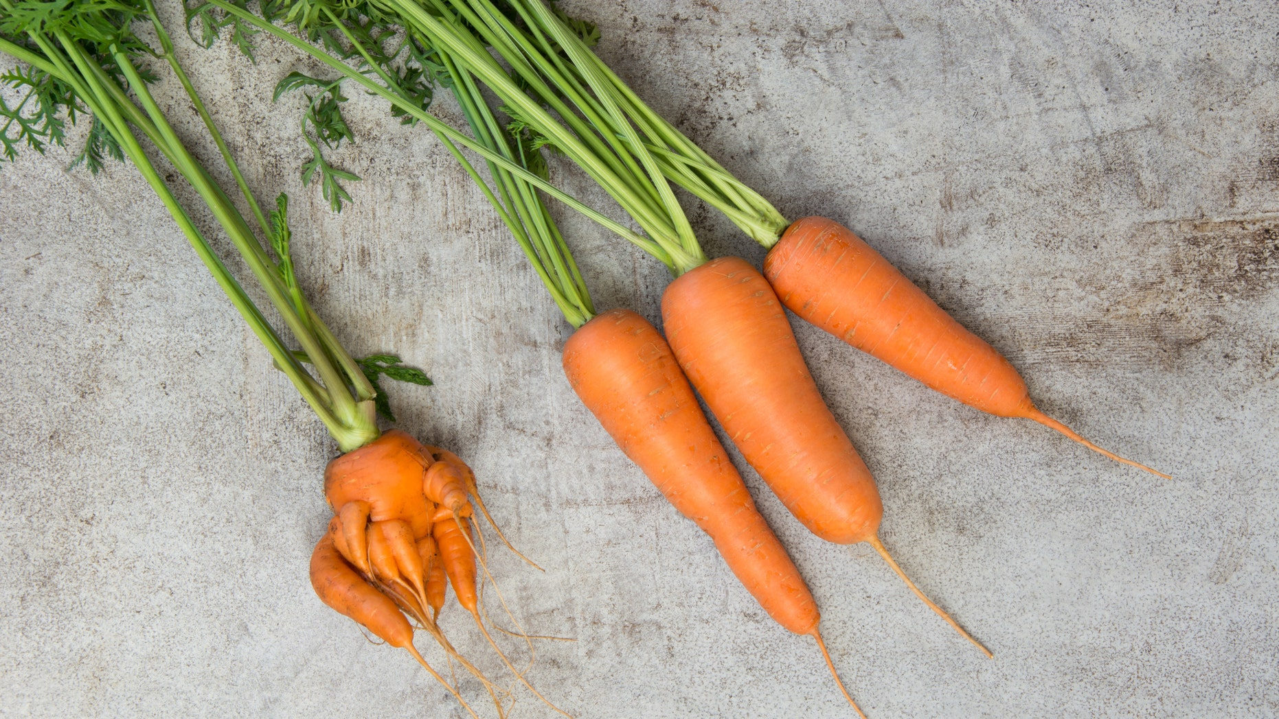 This freaky-looking carrot might find a home