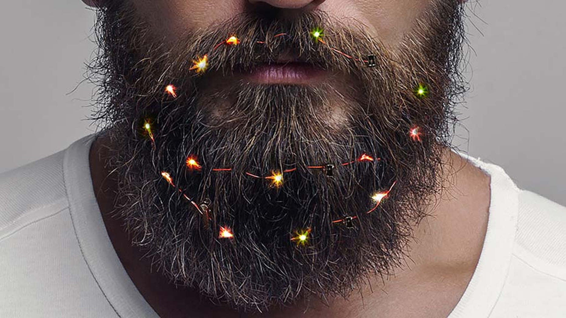 Get your beard in the holiday spirit with these beard lights.