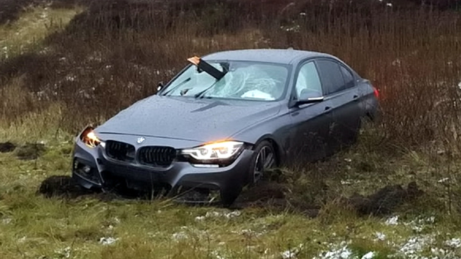 Car Impaled By Wood Post In Crash, Missing Driver By