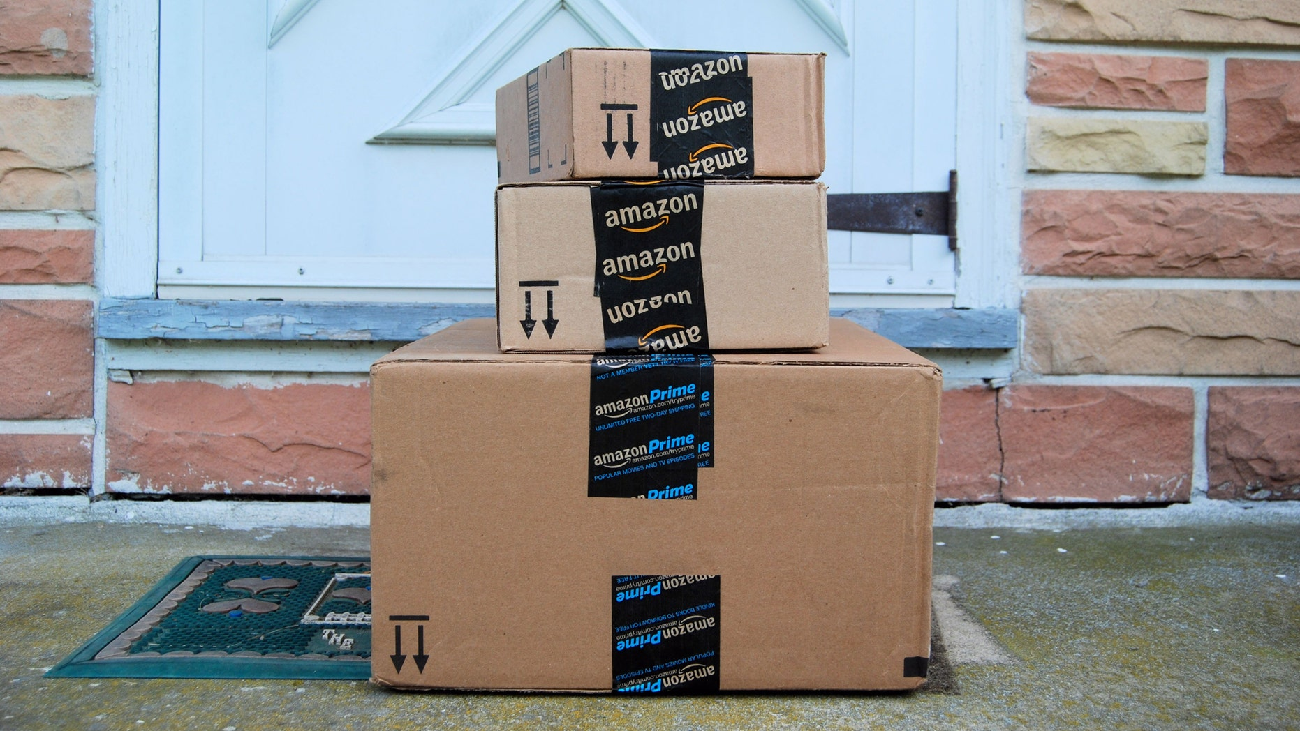 Hagerstown, MD, USA - June 2, 2014: Image of an Amazon package. Amazon is an online company and is the largest retailer in the world.
