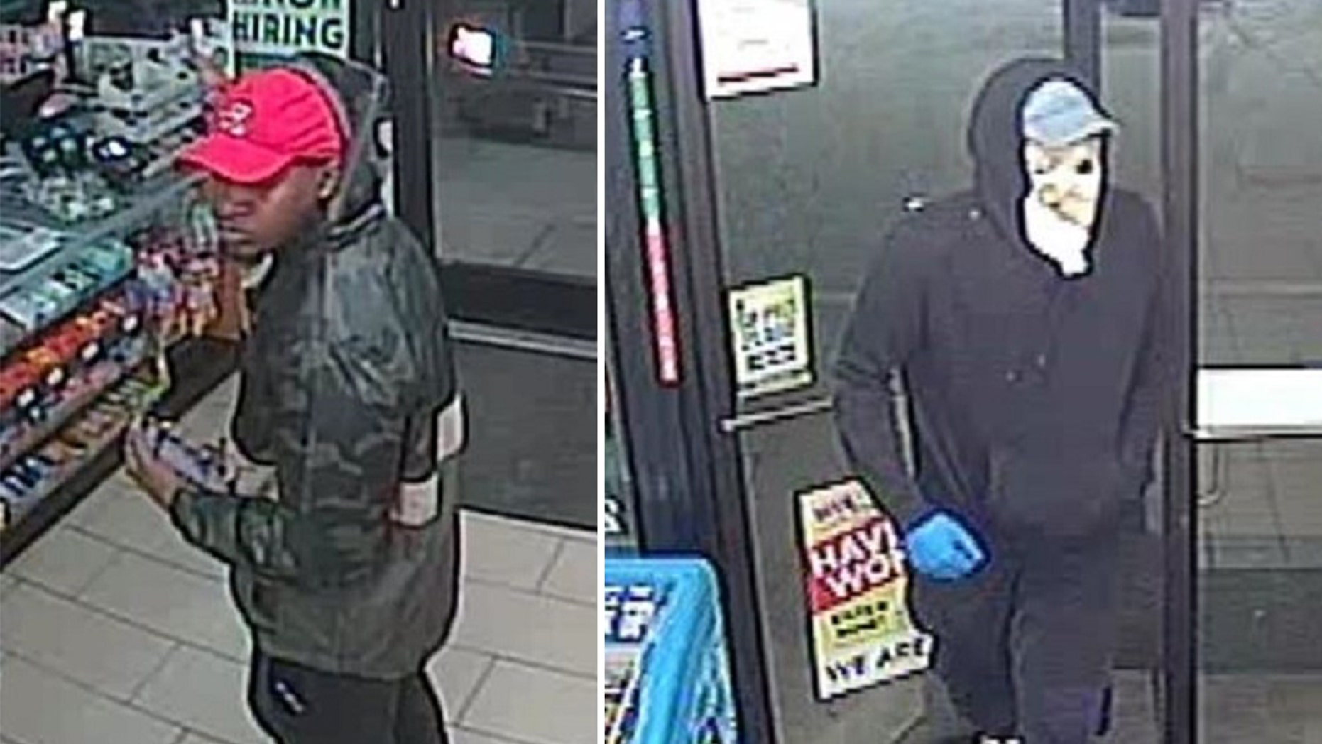 Fort Worth police are searching for two men connected to an armed robbery.