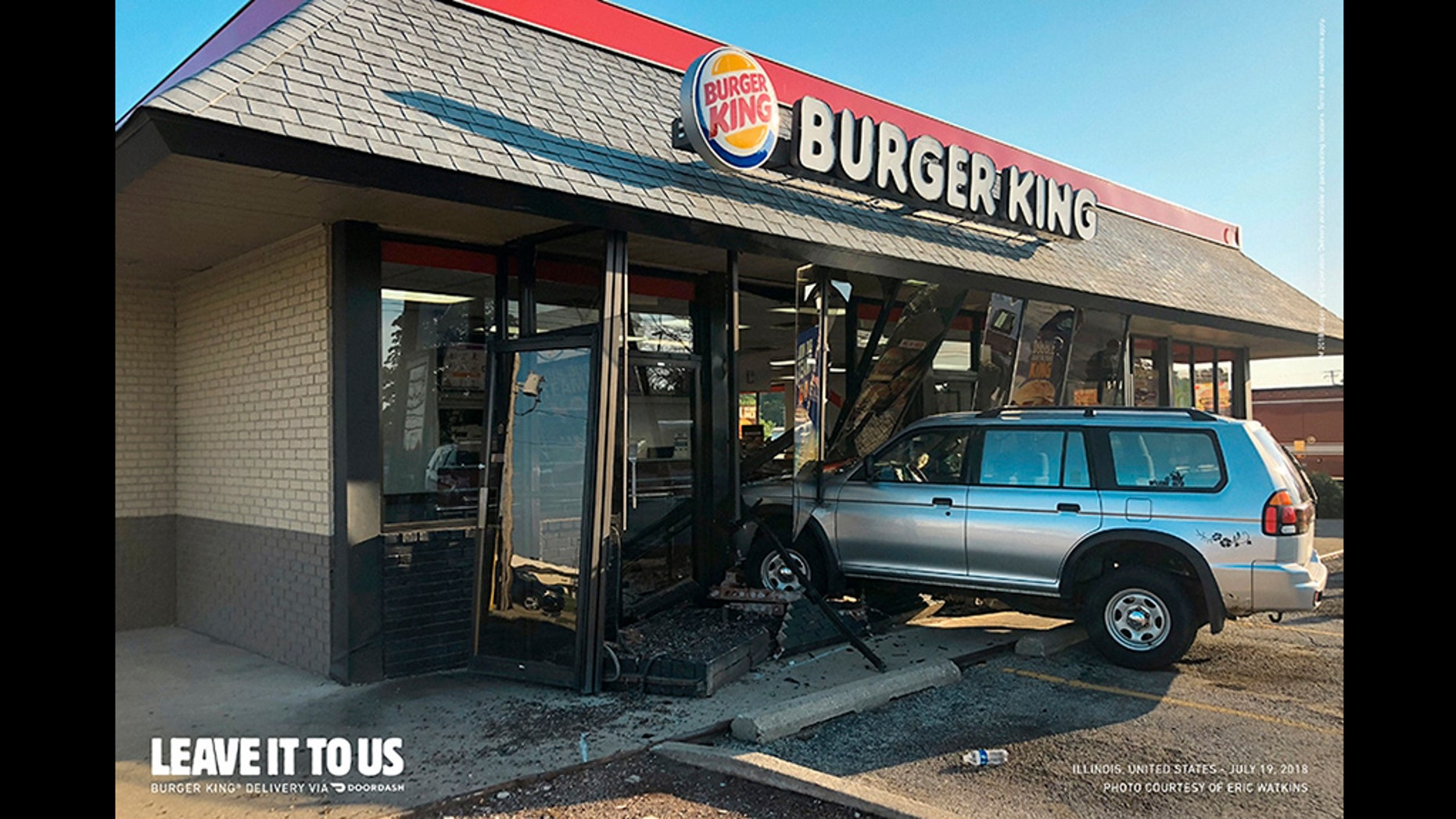 Burger King's newest ad campaign features genuine vehicle crashes during a restaurants.