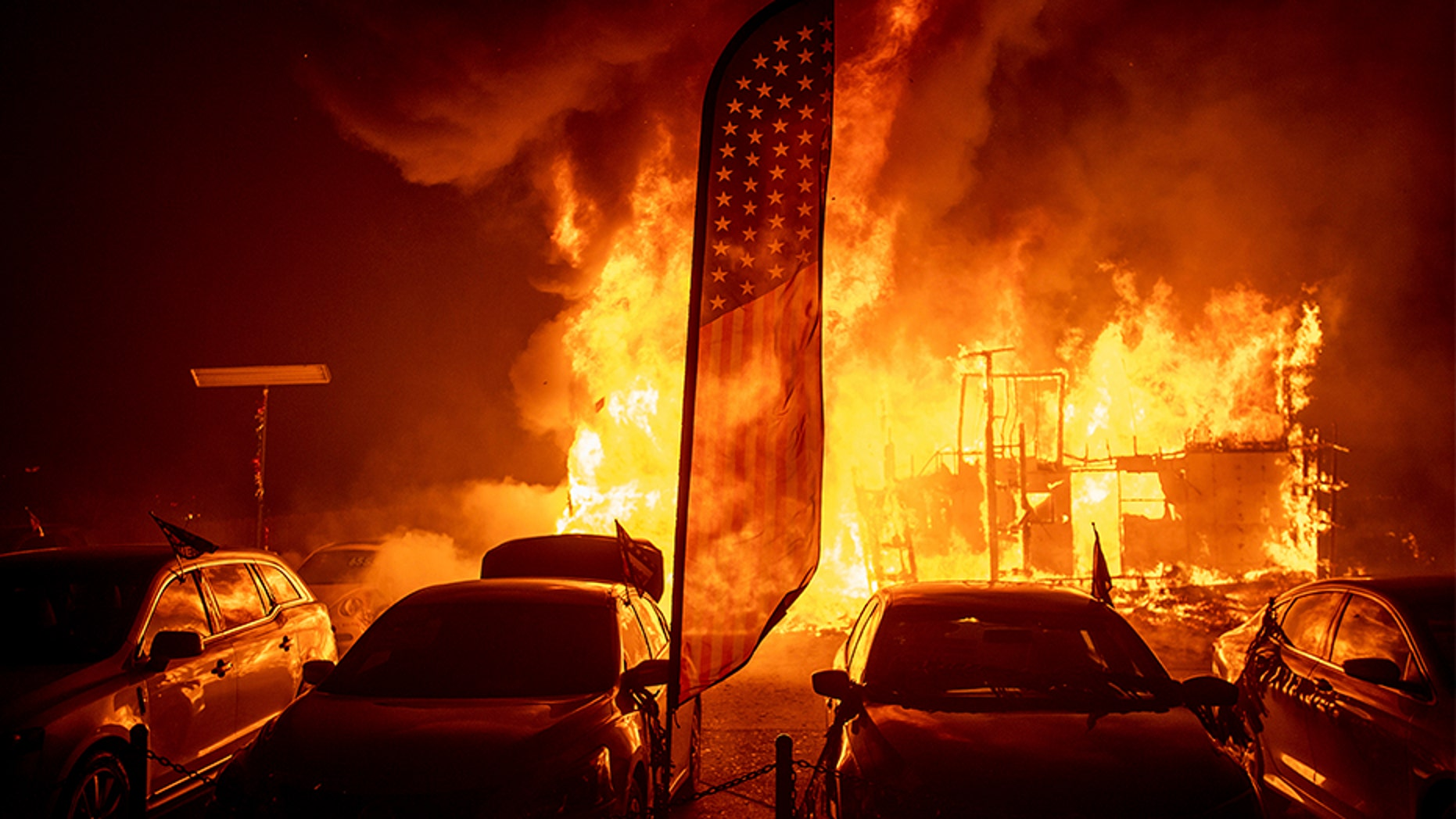 California wildfires: Massive fire almost QUADRUPLES in size to 110 square miles