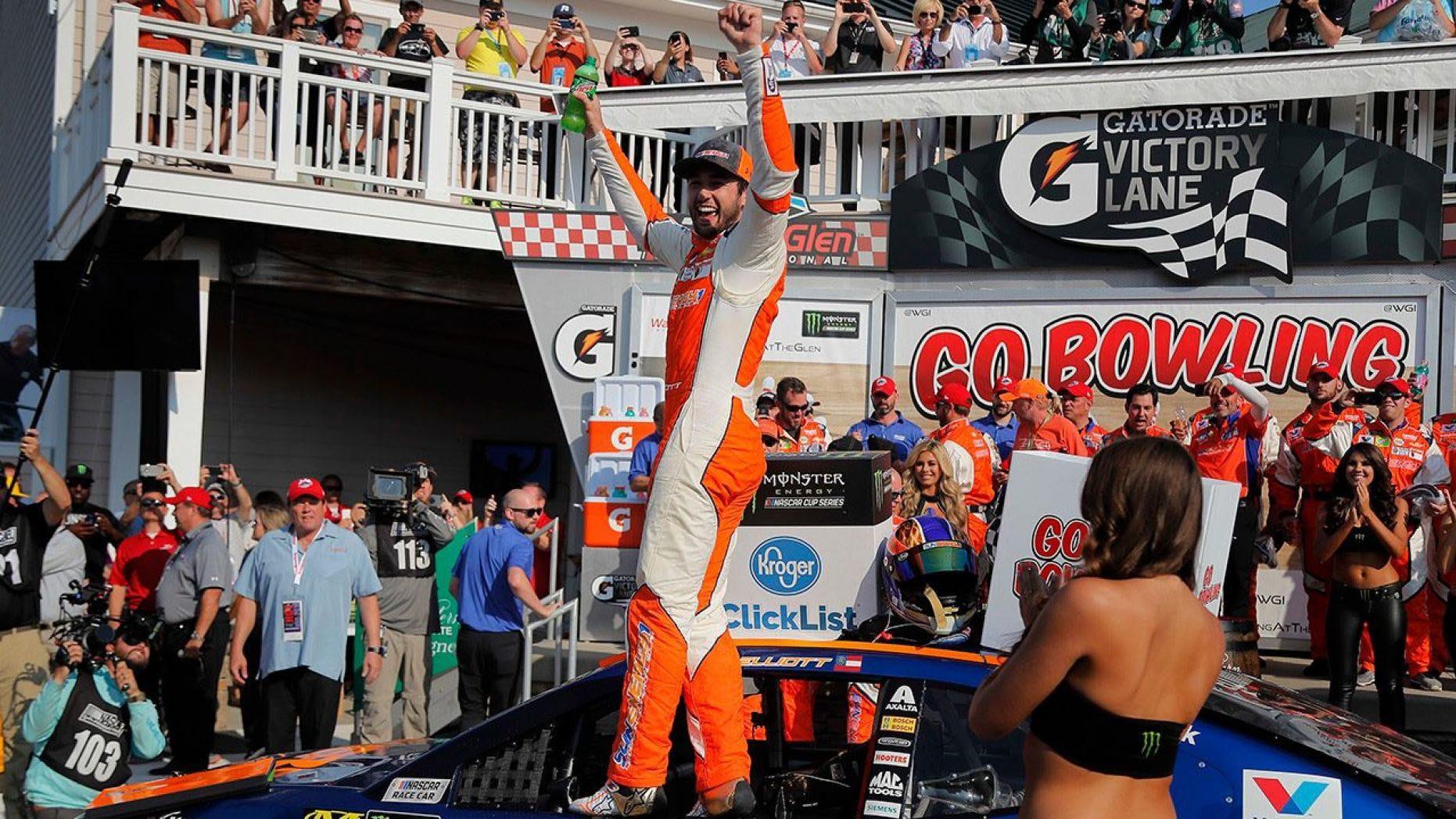 Elliott scored his first win at Watkins Glen.
