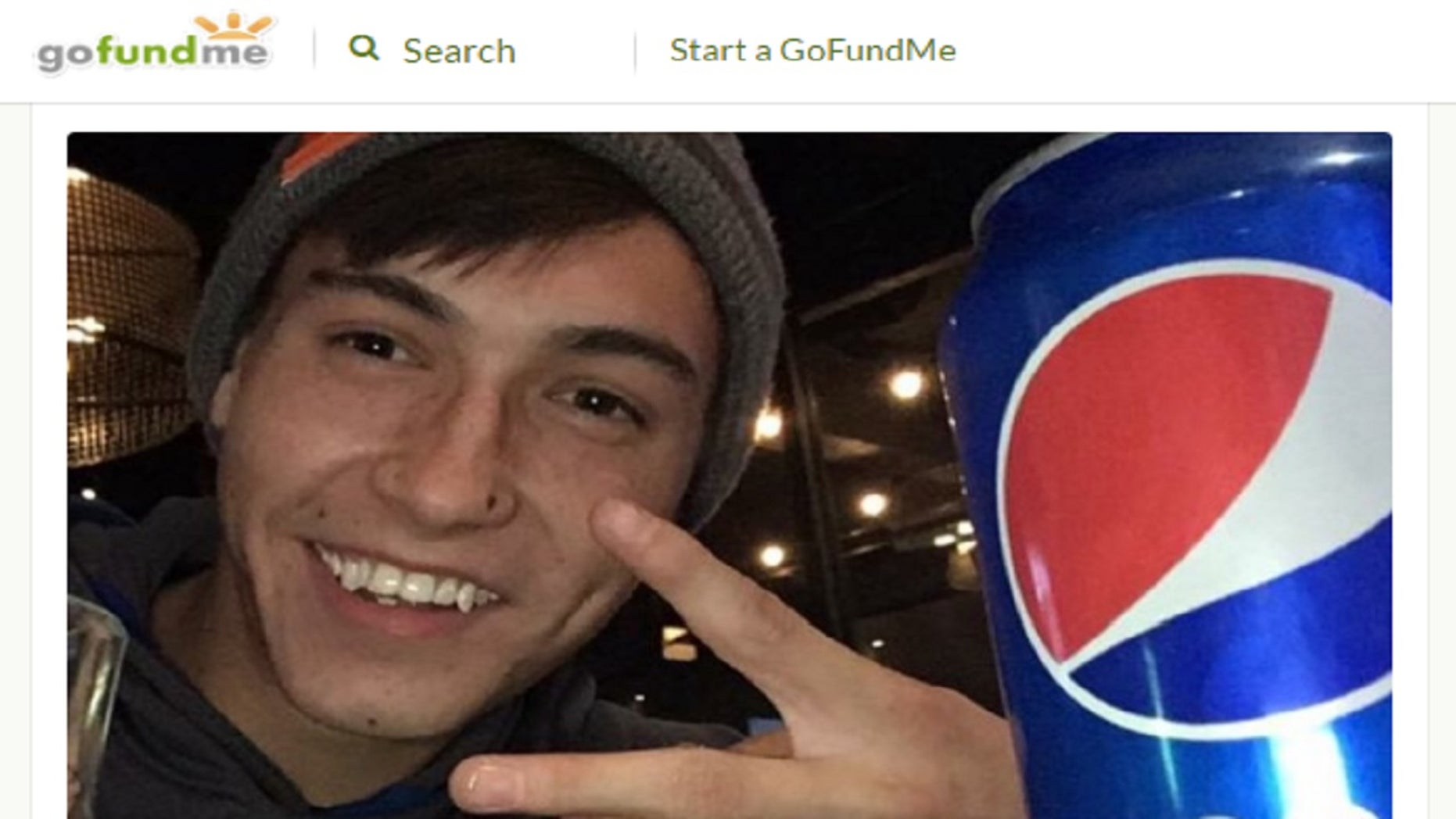 Scott Walsh, 22, is in critical condition after falling into a trash chute on Friday evening in Denver.