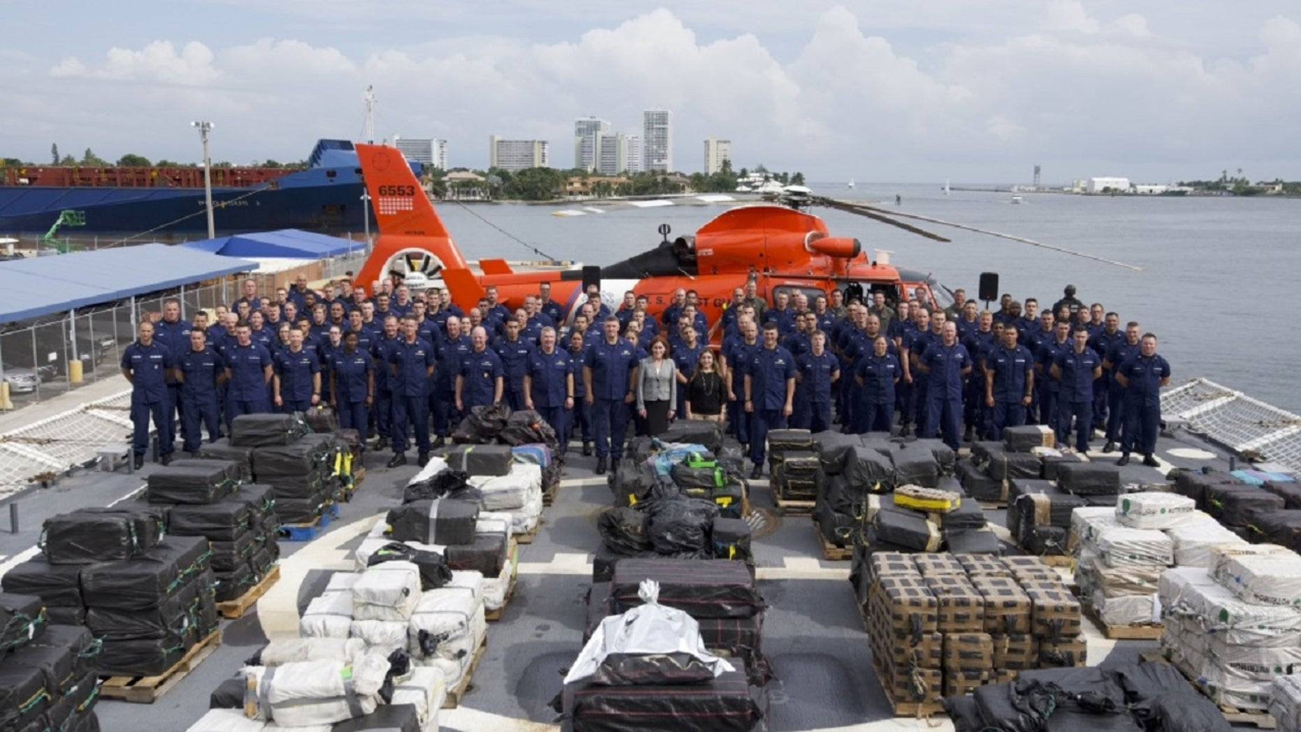 The Coast Guard seized 18.5 tons of cocaine in international waters.
