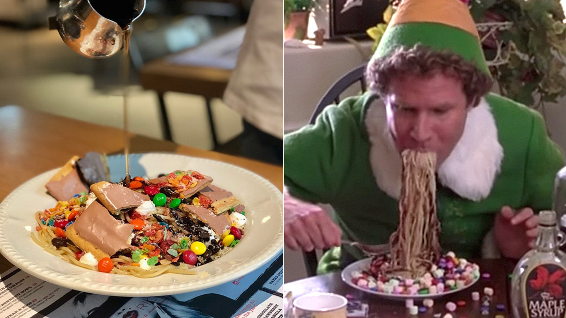 "A Chicago eatery is hoping you'll start the holiday season with this Spaghetti Sunday inspired by the movie ""Elf."""