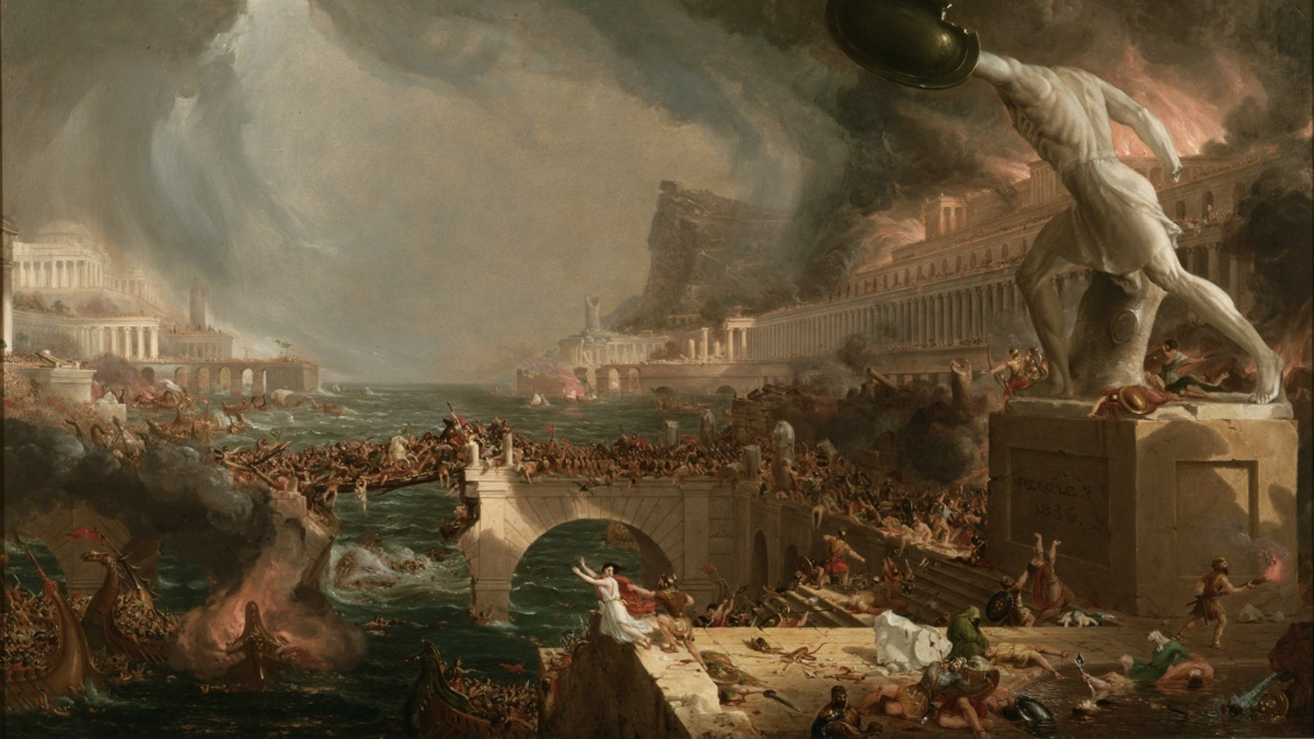 The fall of the Roman Empire may have been a partial result of the decade of famine and plague that began in A.D. 536, the authors of a new study say.