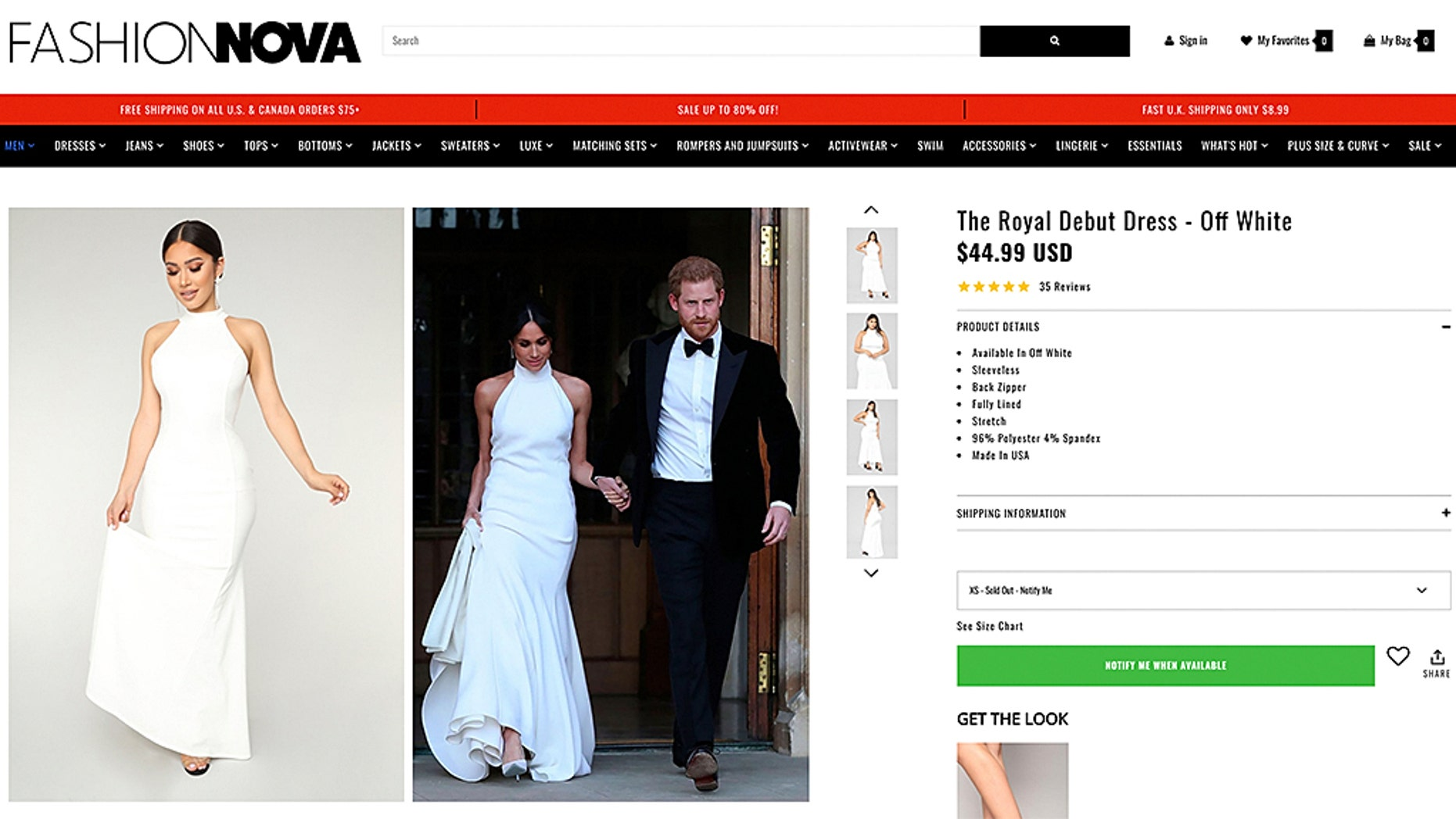 Fashion Site Releases 45 Meghan Markle Reception Dress Replica