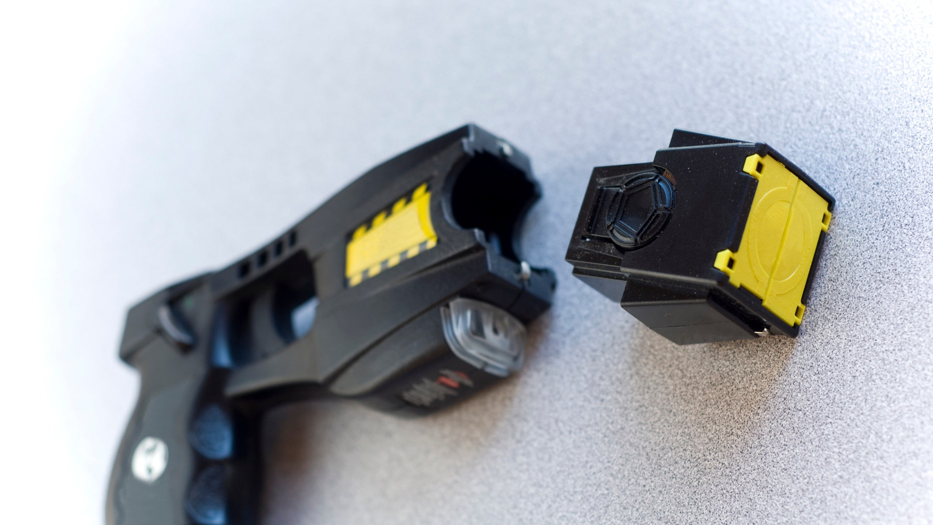 Several people volunteered to be tasered at an annual training event.