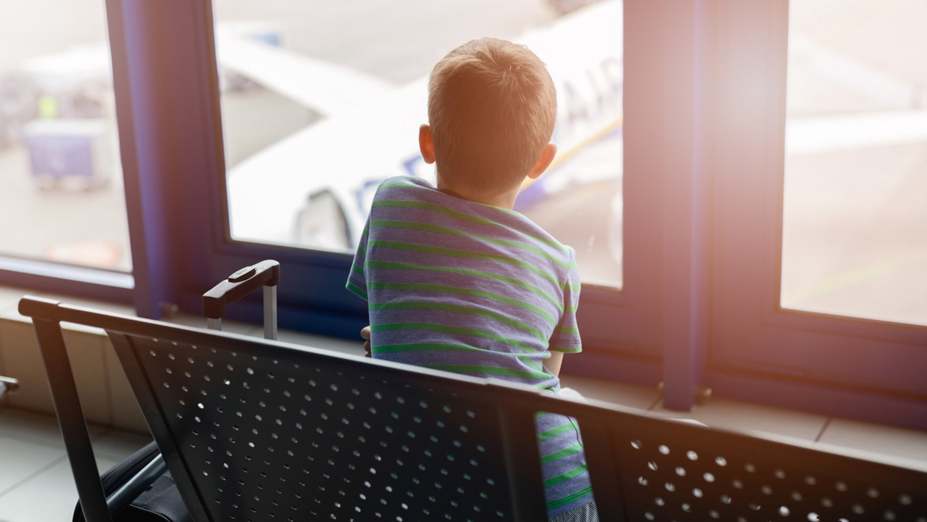 An 11-year-old nearly boarded a plane without a ticket or supervision.