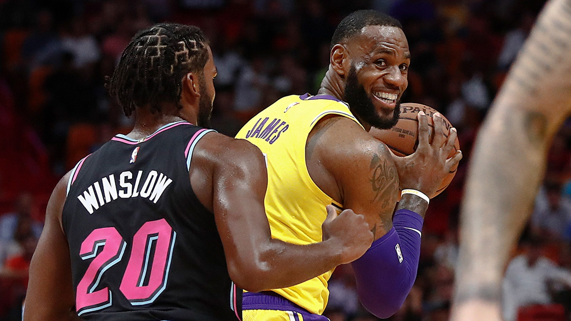Los Angeles Lakers star LeBron James scored 51 points in Sunday's win against the Miami Heat.