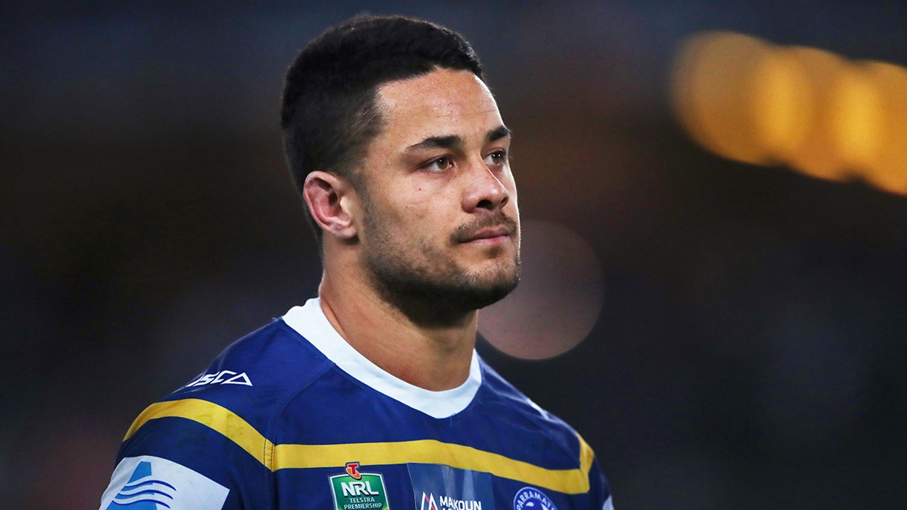 SYDNEY, AUSTRALIA - JULY 19: Jarryd Hayne of the Eels looks on during the round 19 NRL match between the Parramatta Eels and the Canterbury Bulldogs at ANZ Stadium on July 19, 2018 in Sydney, Australia. (Photo by Matt King/Getty Images)