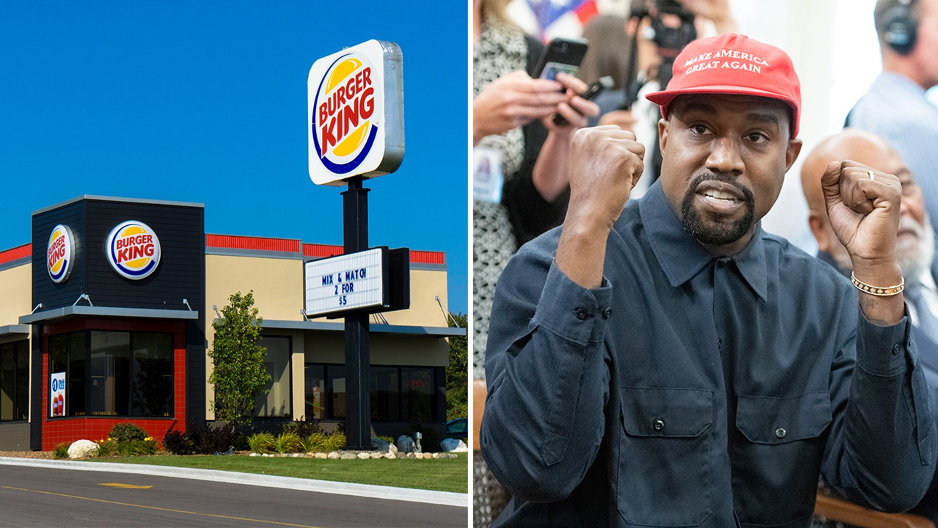 Burger King Flame-Grills Kanye West Over His Love For McDonald's