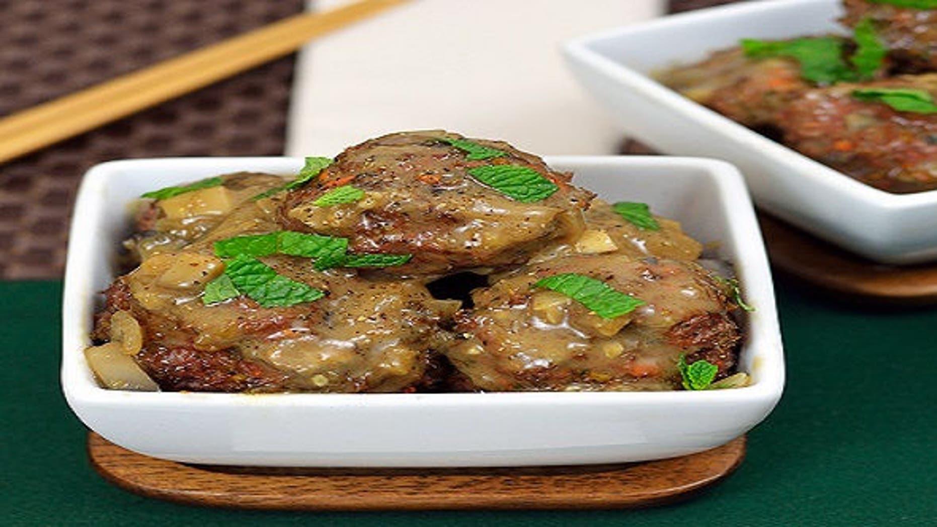 Lamb meatballs in a creamy mushroom sauce make a great pass-around appetizer.