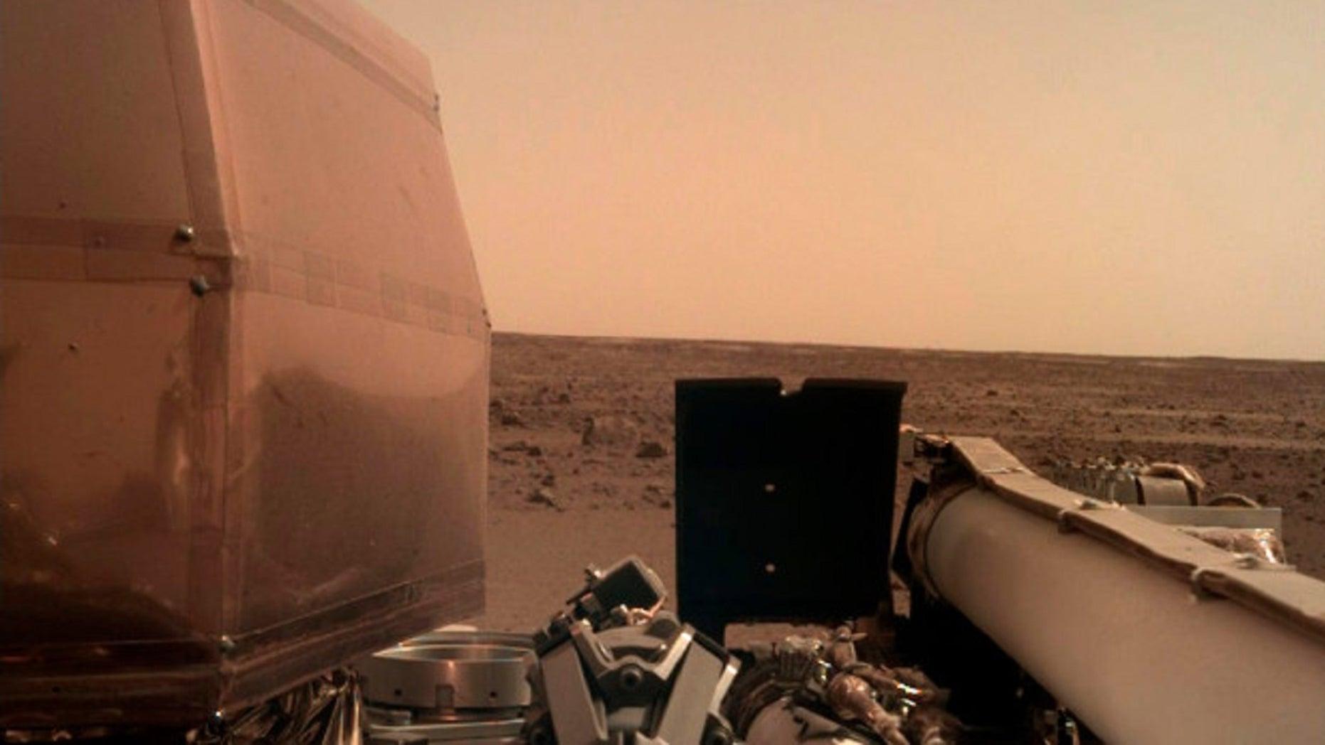 NASA's spacecraft, InSight, landed on Mars on Monday.