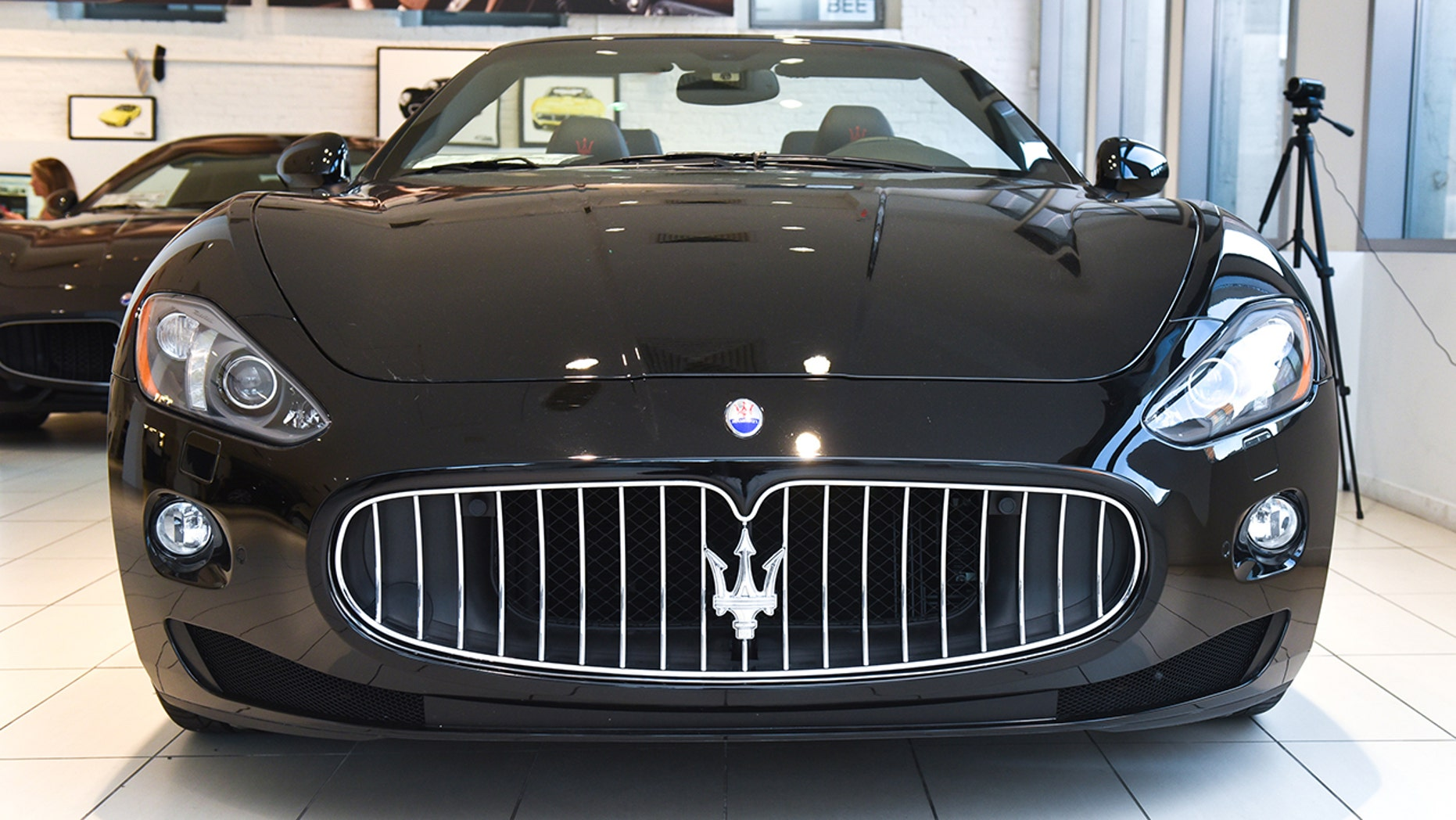 A Maserati is seen in a showroom in New York City, Sept. 27, 2016. (Jared Siskin/Patrick McMullan via Getty Images)