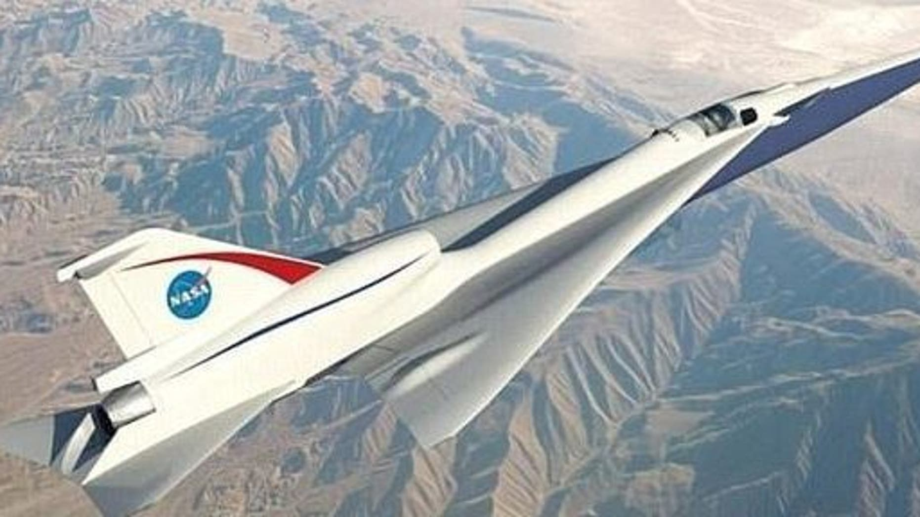 The X-59 could one day fly from London to New York in just three hours