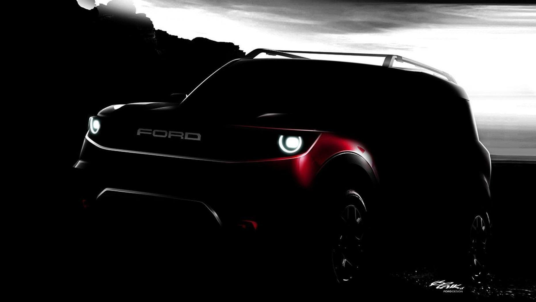Ford has not yet announced the name of its baby bronco suv