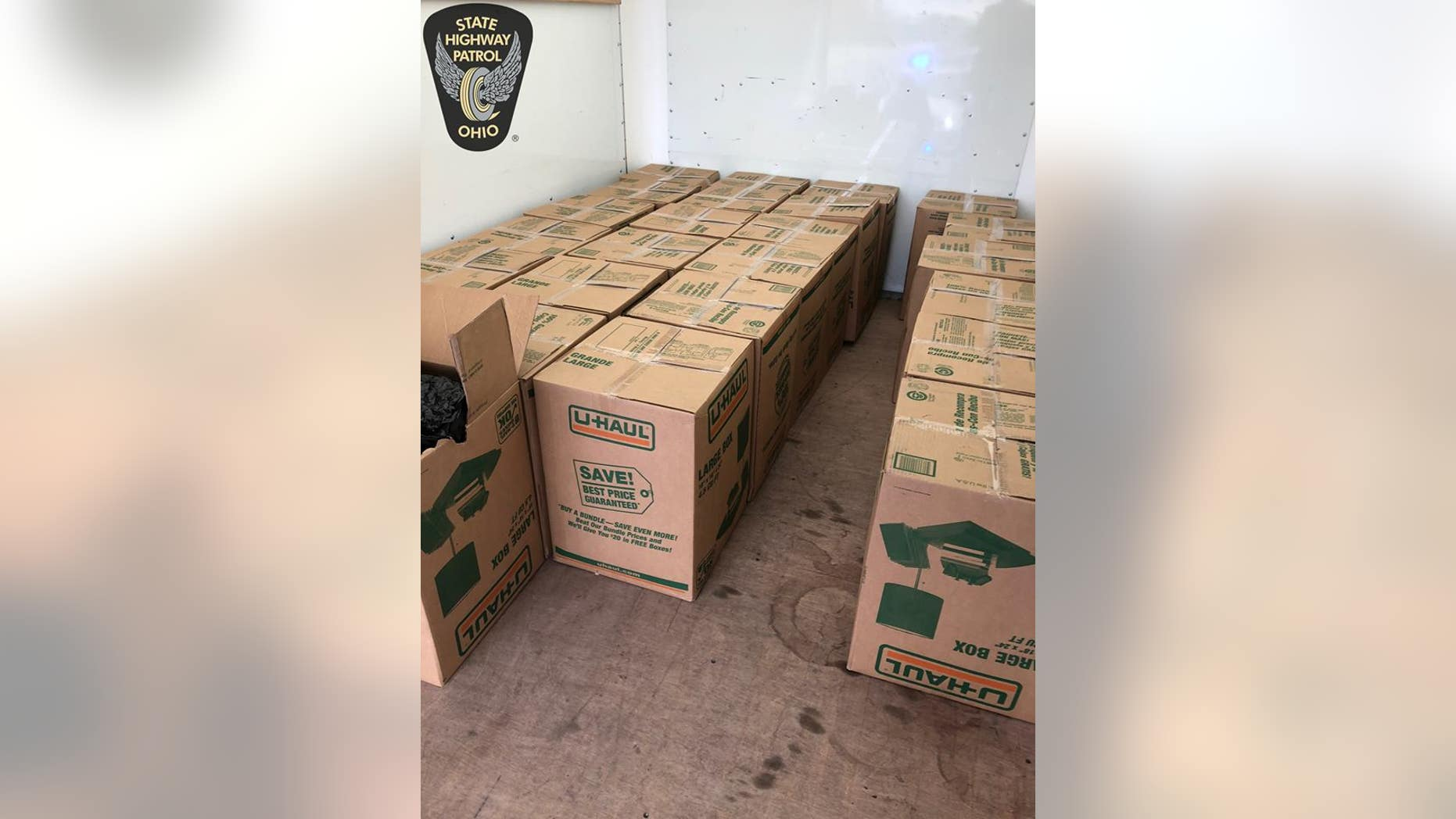 Officials said the marijuana was valued at $1.3 million.
