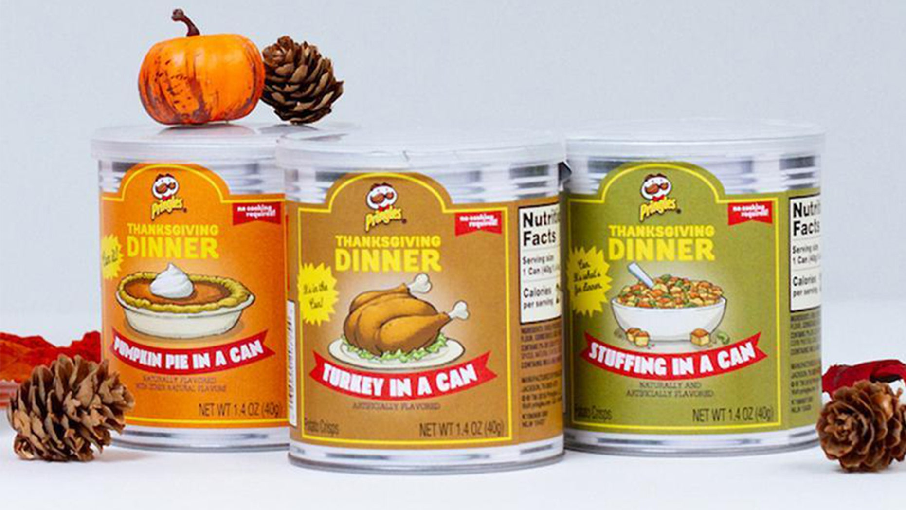 Why not skip cooking Thanksgiving dinner altogether and instead just have your holiday meal in a can with Pringles' newest festive flavors.