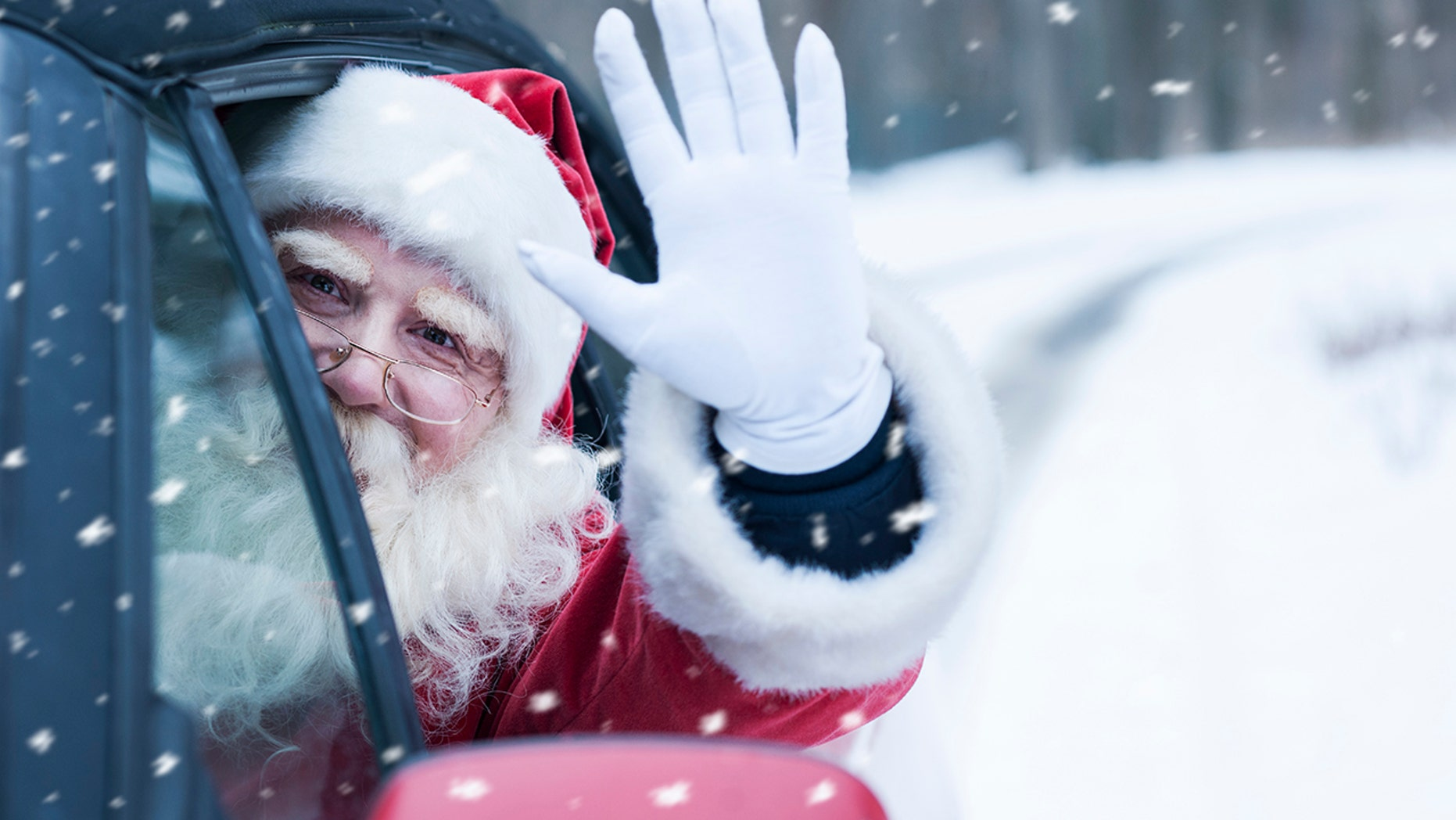 A man dressed as Santa was reportedly shot at while driving on a Texas freeway.